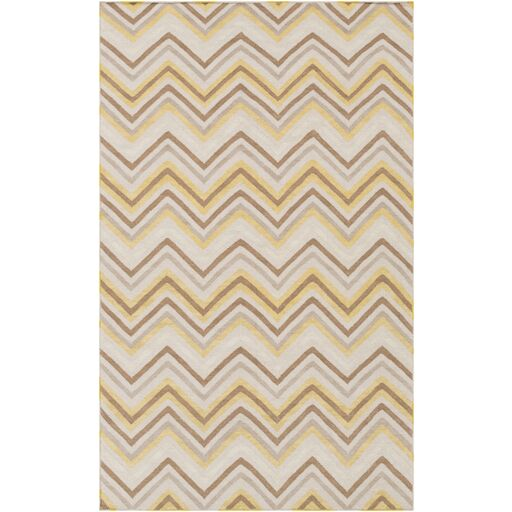 Diego Brown & Tan Chevron Area Rug Rug Size: Rectangle 5' x 8'