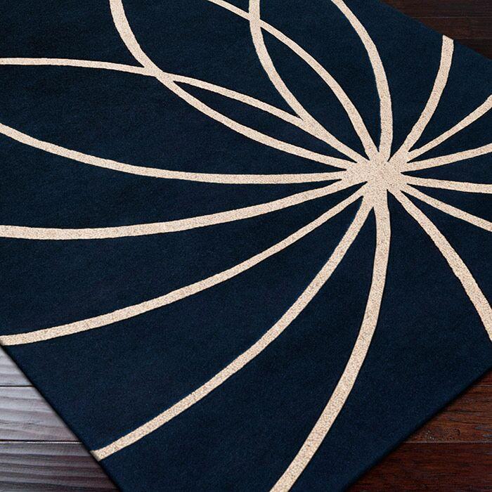 Dewald Dark Blue/Antique White Area Rug Rug Size: Runner 3' x 12'