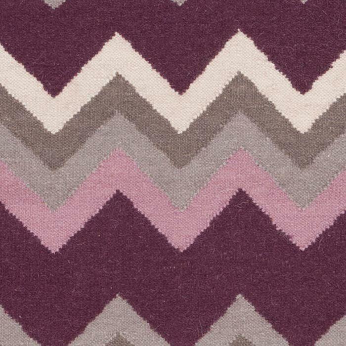 Diego Prune Purple/Flint Gray Chevron Area Rug Rug Size: Rectangle 3'6