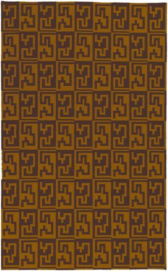 Beufort Brown & Golden Raisin Area Rug Rug Size: Rectangle 5' x 8'