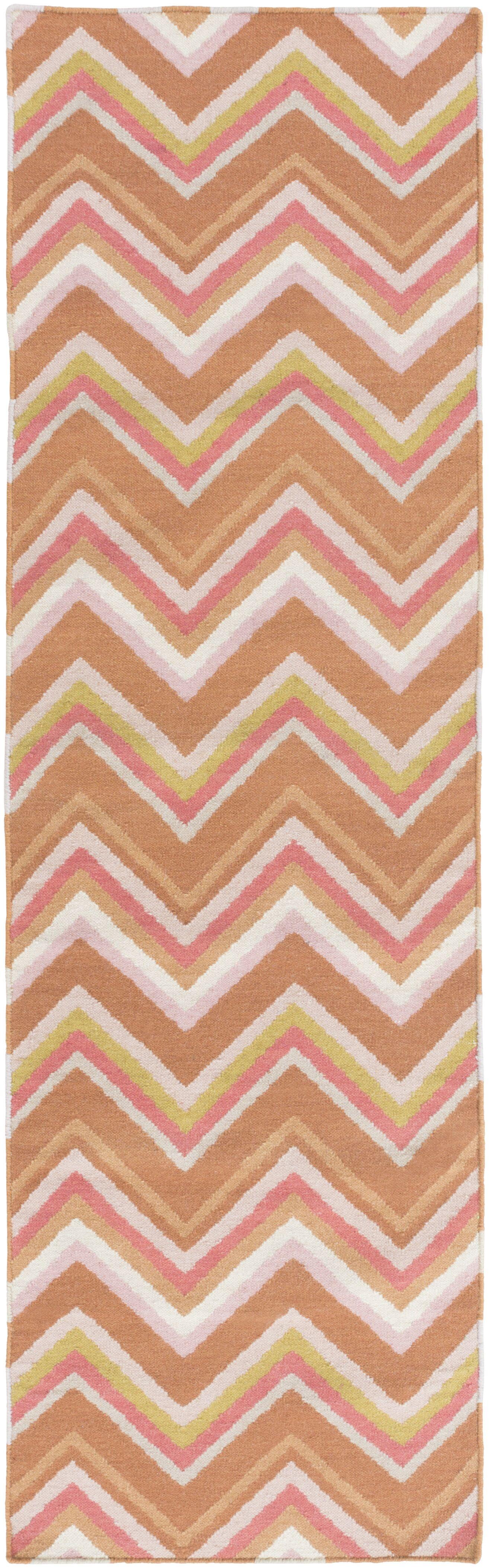 Diego Chevron Wool Area Rug Rug Size: Rectangle 5' x 8'