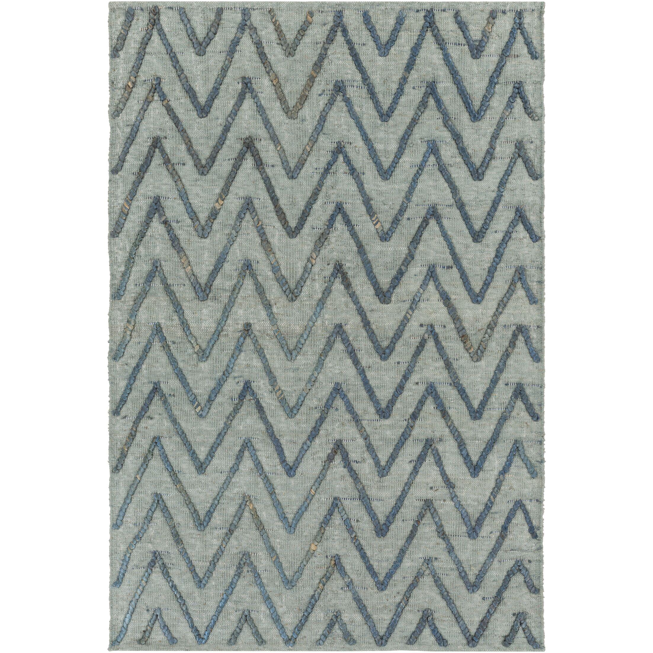 Rachelle Hand-Woven Teal/Bright Blue Area Rug Rug Size: Runner 2'6