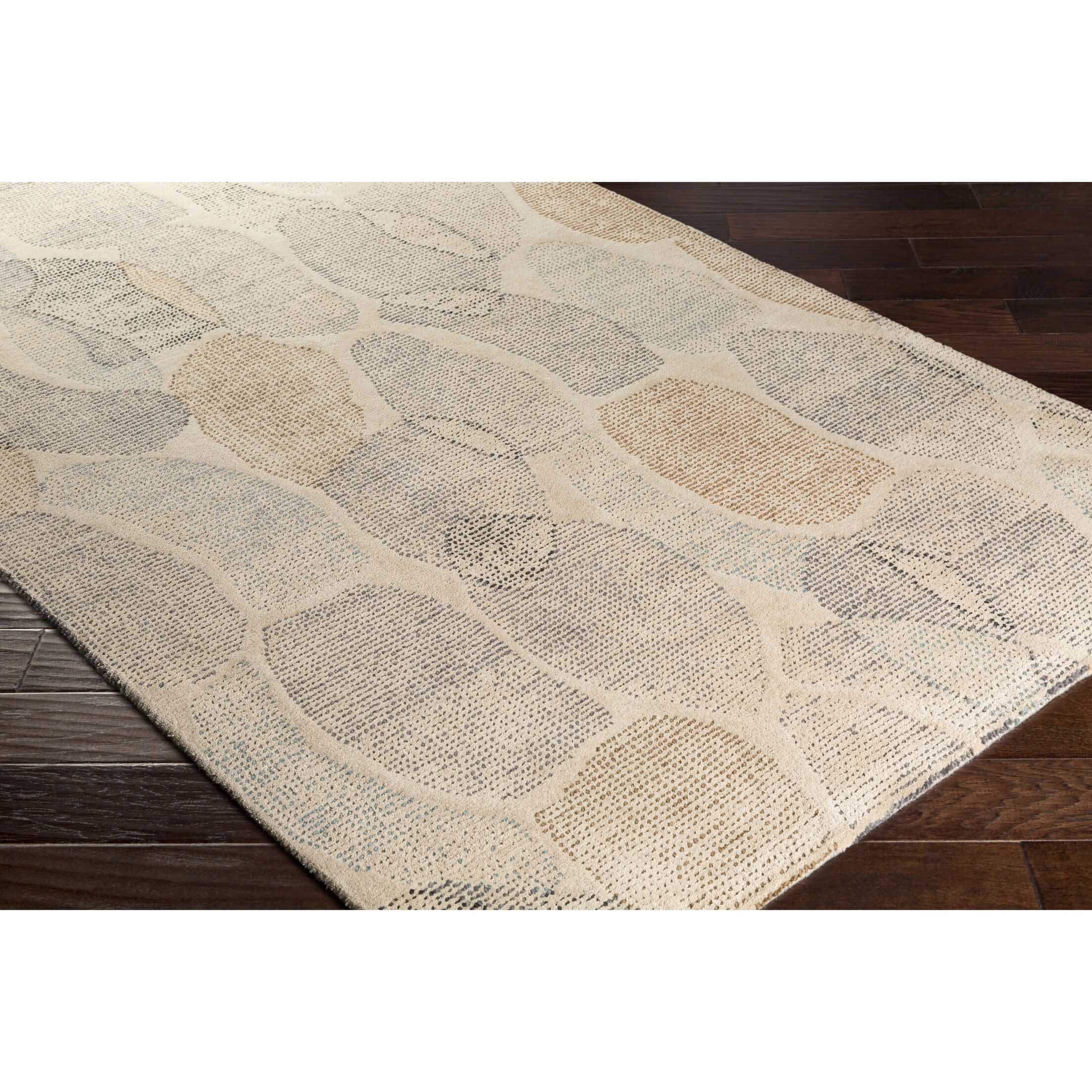 Digby Hand-Tufted Neutral/Gray Area Rug Rug Size: Rectangle 4' x 6'