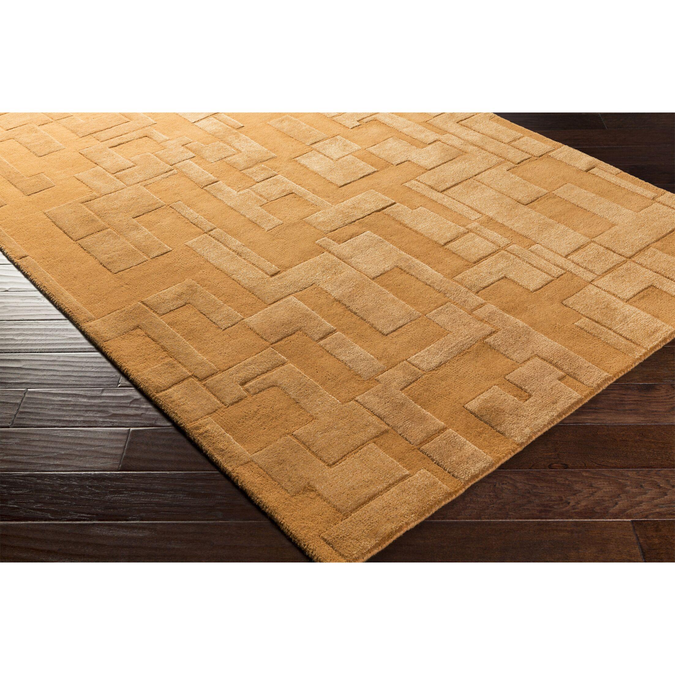 Dionne Hand-Tufted Orange Area Rug Rug Size: Rectangle 5' x 7'6
