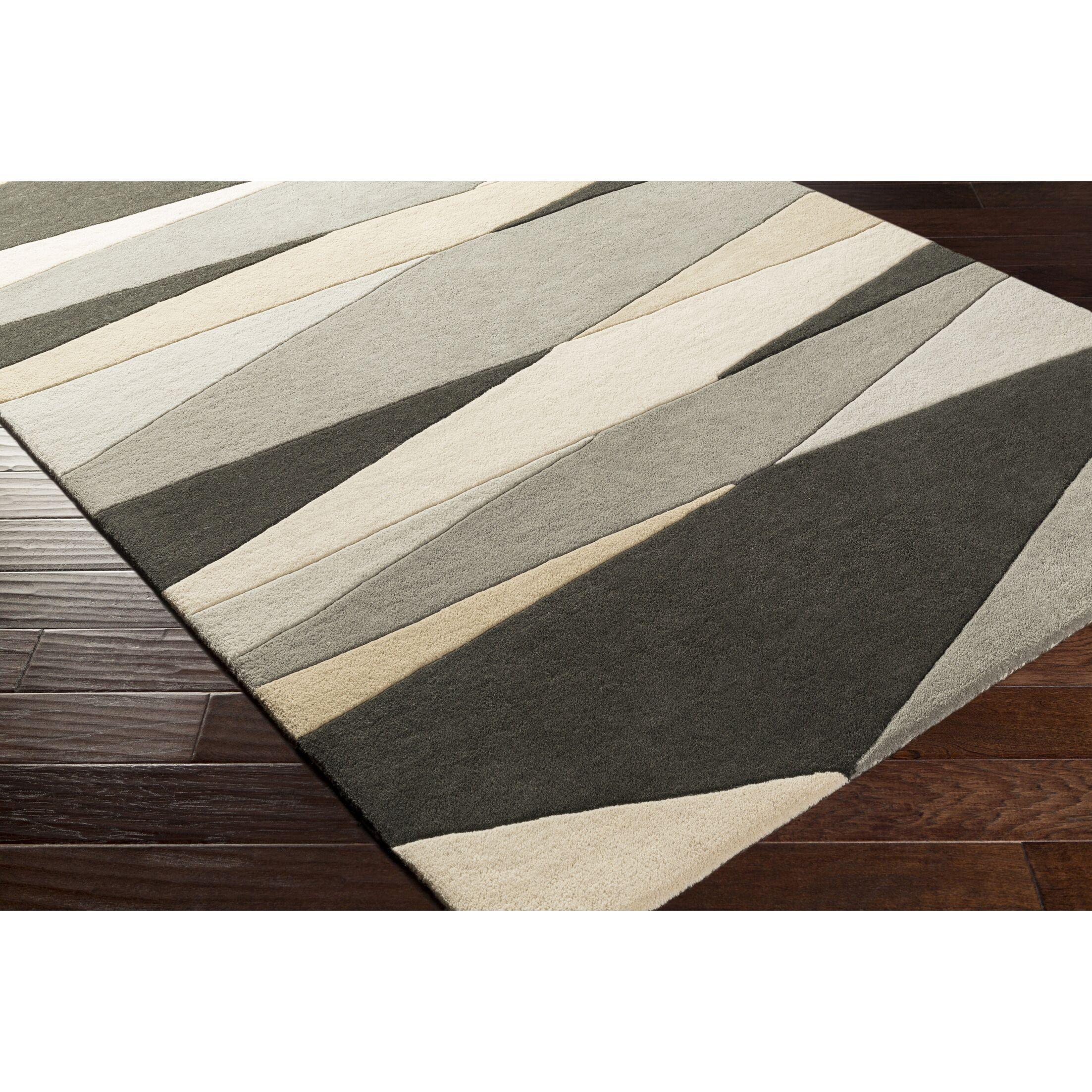 Dewald Hand-Tufted Gray/Beige Area Rug Rug Size: Rectangle 6' x 9'