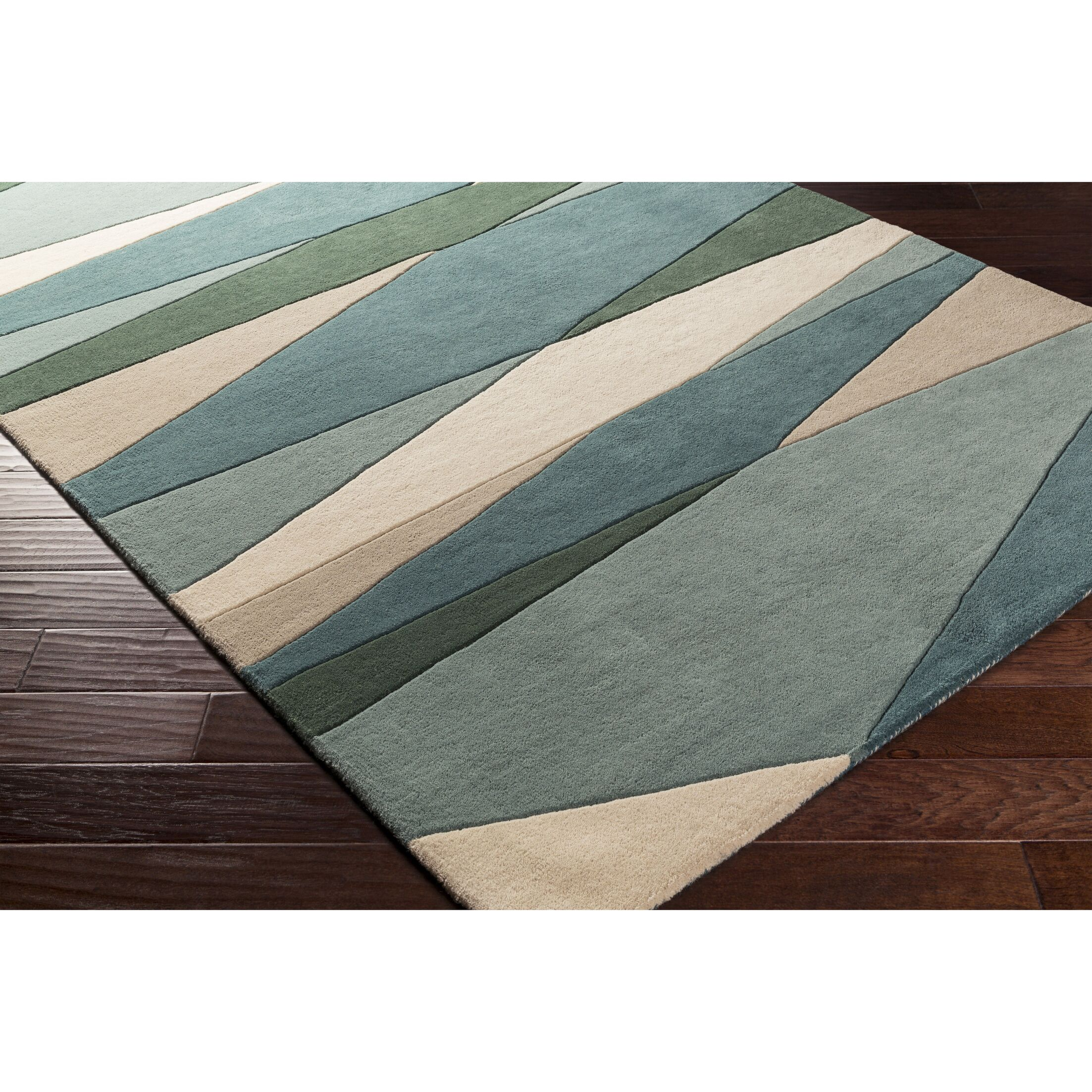 Dewald Hand-Tufted Dark Green Area Rug Rug Size: Rectangle 5' x 8'