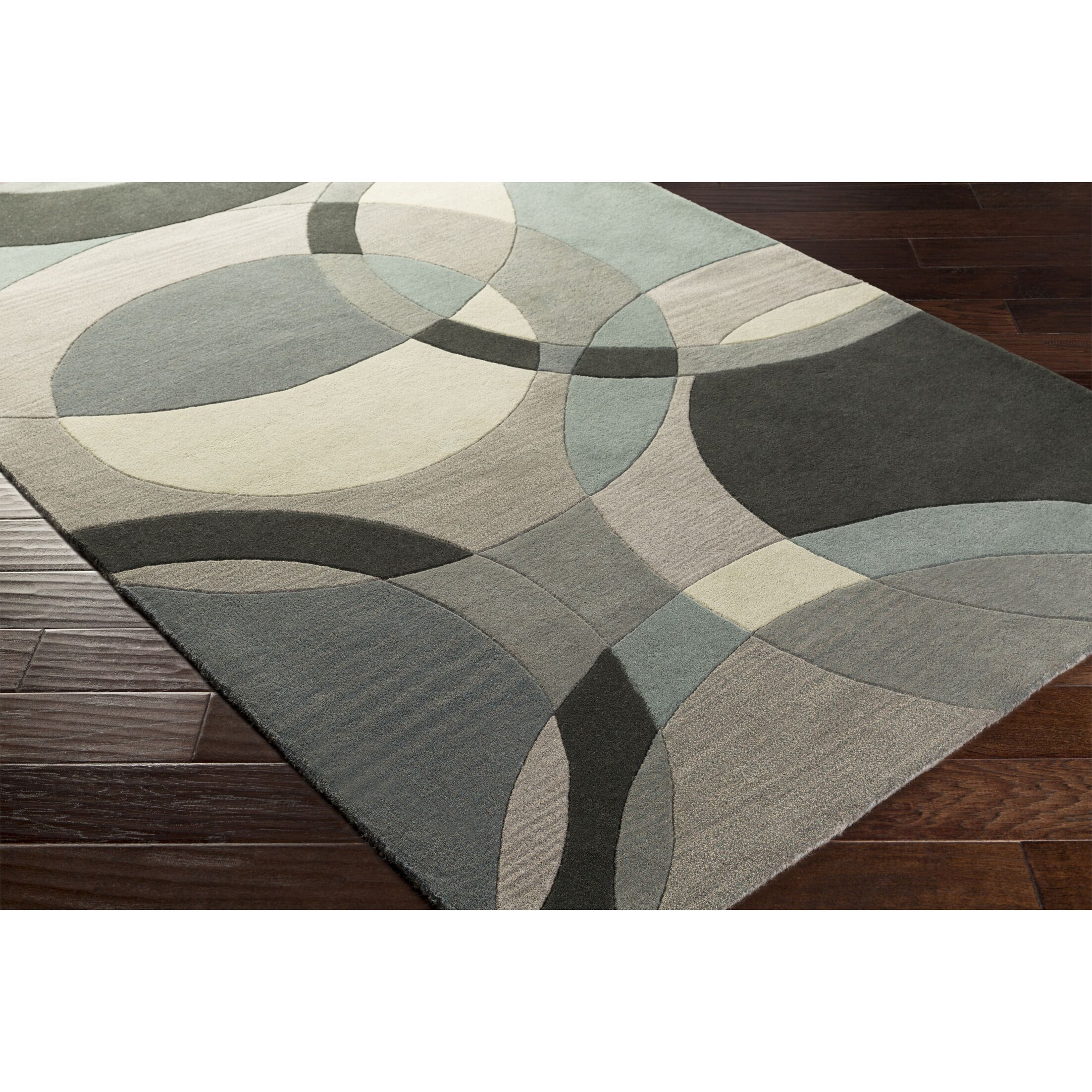 Dewald Hand-Tufted Neutral/Blue Area Rug Rug Size: Rectangle 6' x 9'