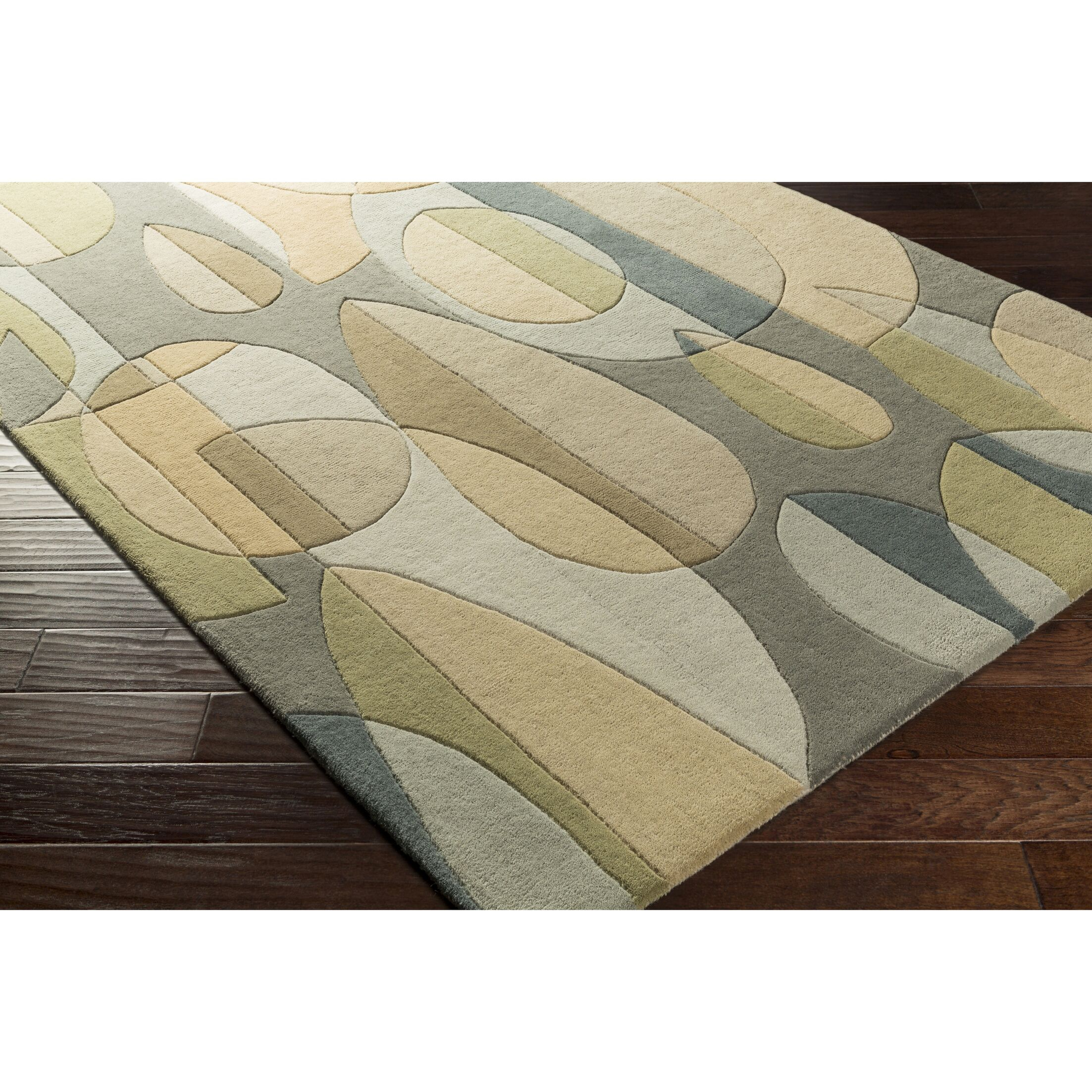 Dewald Hand-Tufted Blue/Green Area Rug Rug Size: Novelty 8' x 10'