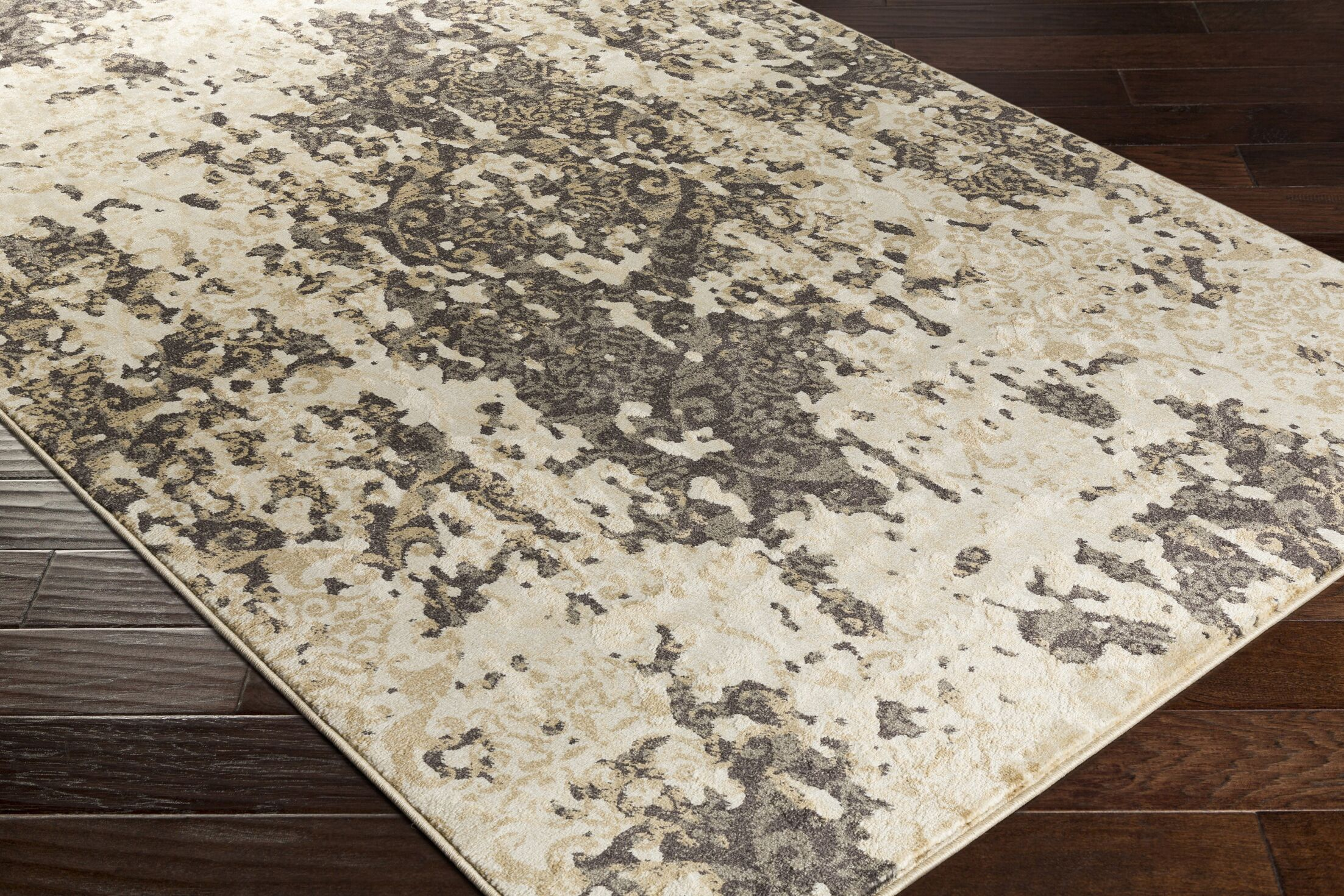 Divernon Beige Abstract Area Rug Rug Size: Rectangle 7'10