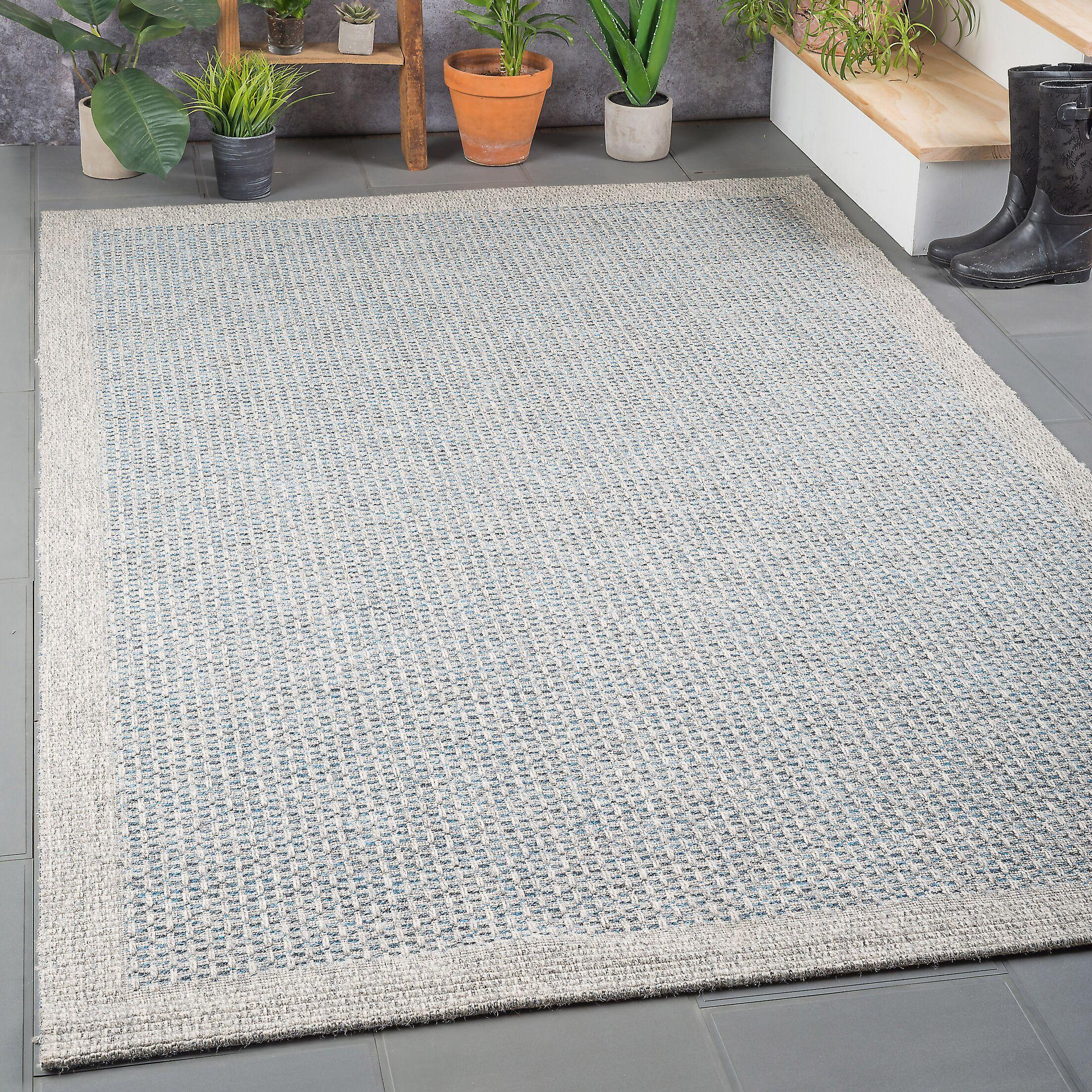 Felipe Blue/Gray Indoor/Outdoor Area Rug Rug Size: 7'2'' x 10'2''