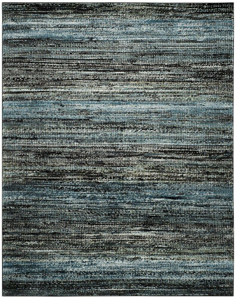 Charis Charcoal/Blue Area Rug Rug Size: Rectangle 6'7