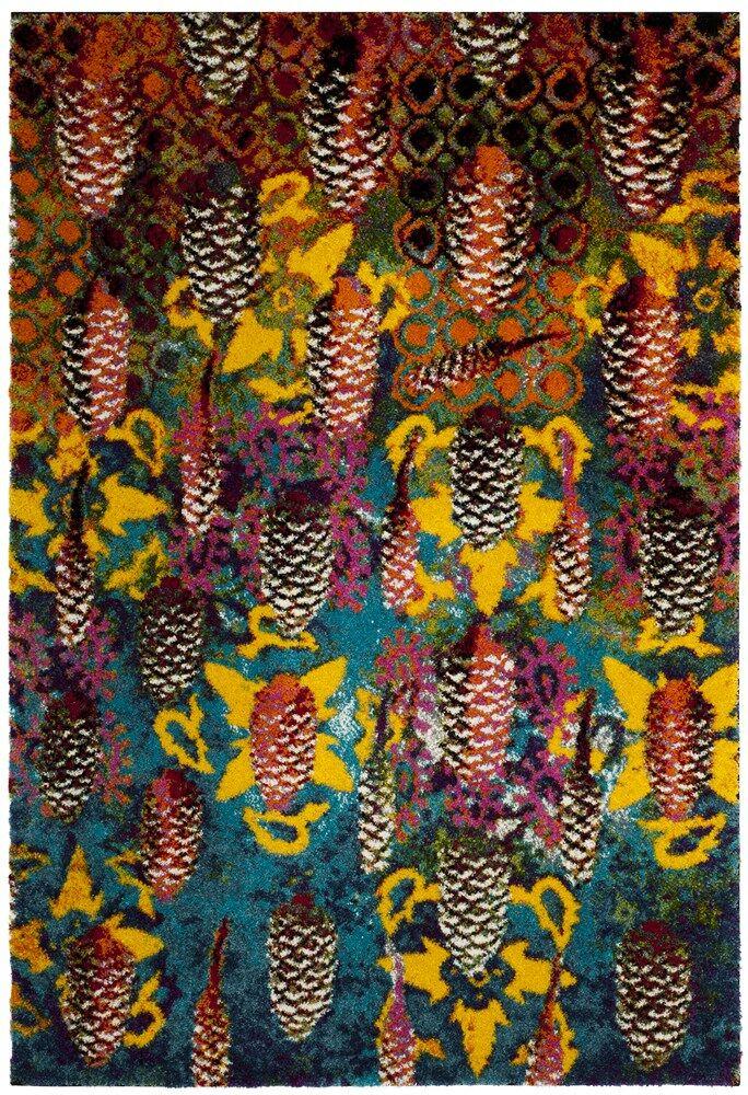 Cleveland Turquoise Area Rug Rug Size: Rectangle 6'7