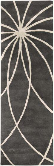Dewald Iron Ore/Antique White Area Rug Rug Size: Runner 2'6
