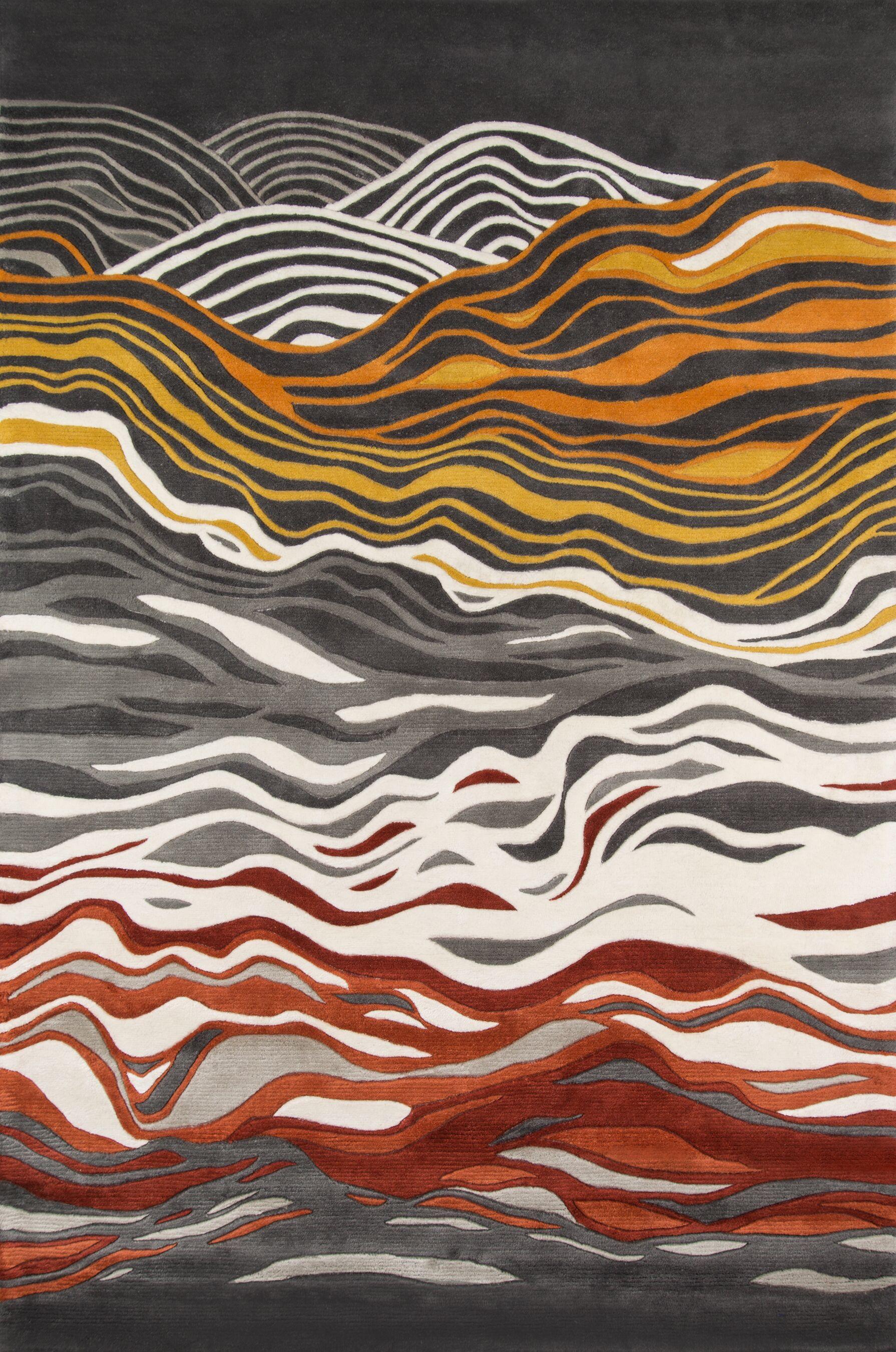 Tyrone Hand-Tufted Gray Area Rug Rug Size: Rectangle 8' x 11'