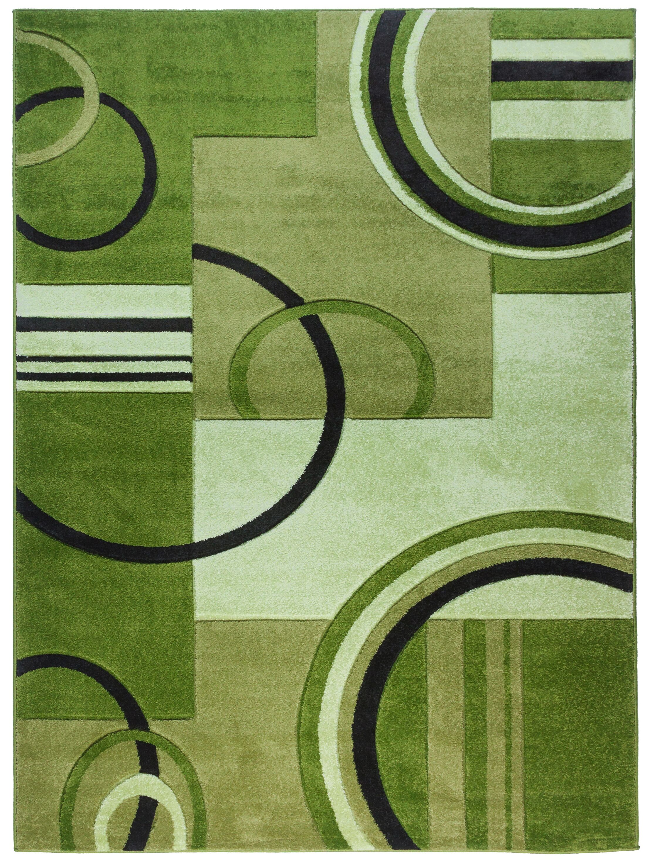 Jenkin Galaxy Waves Green Area Rug Rug Size: Rectangle 5'3