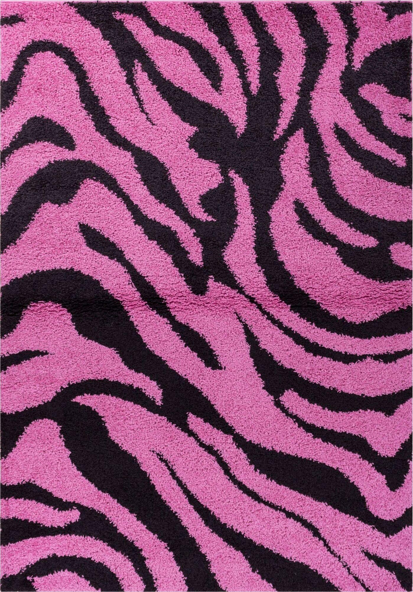 Reynolds Zebra Animal Print Fuchsia/Black Area Rug Rug Size: 5' x 7'2