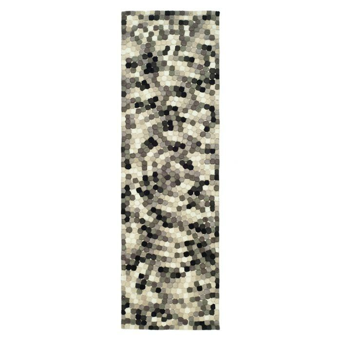 Freda Hand-Tufted Black/Gray Area Rug Rug Size: Runner 2'6