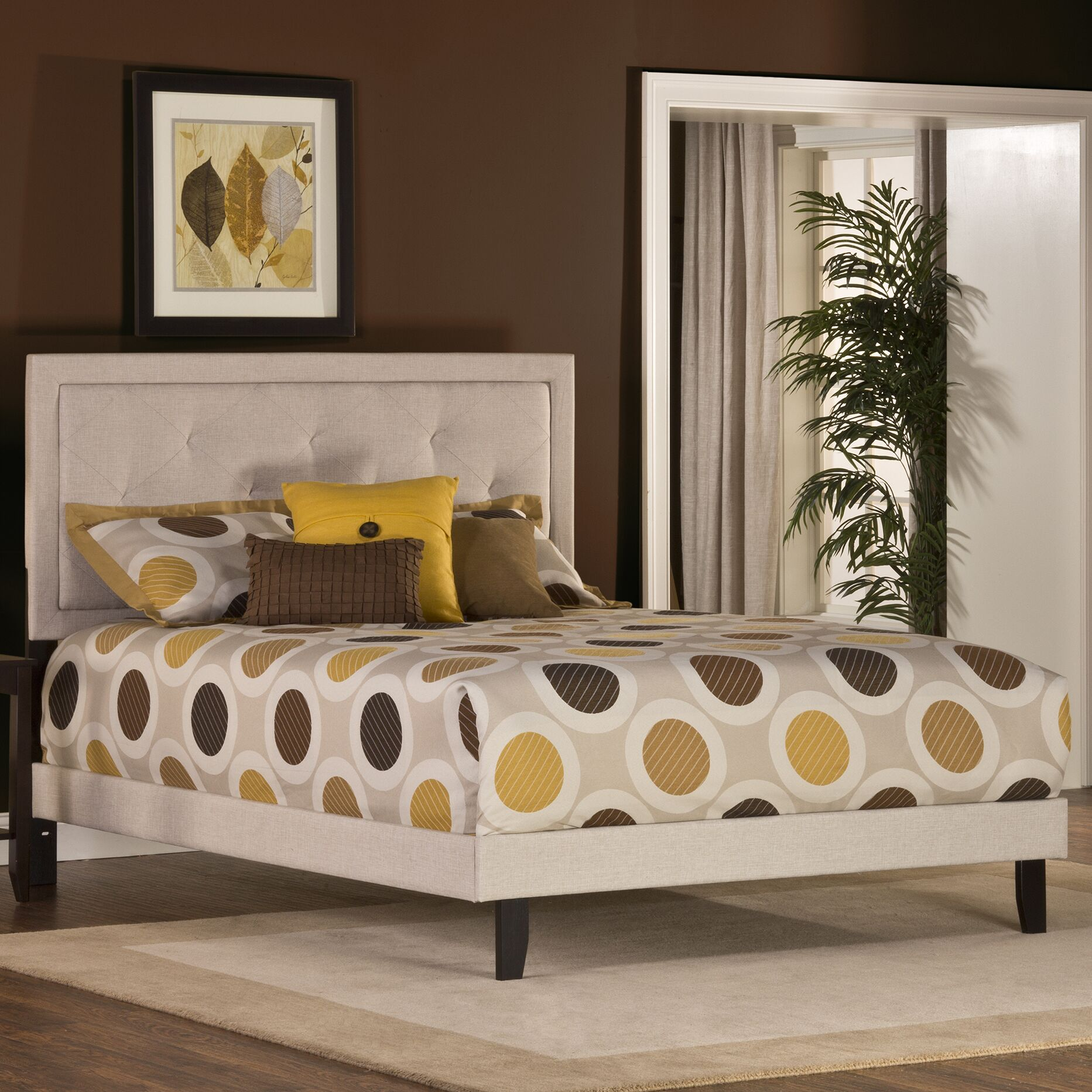 Cynthia Upholstered Panel Bed Size: Full