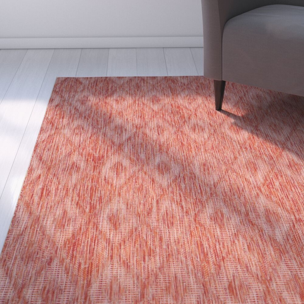 Brodie Red Indoor/Outdoor Area Rug Rug Size: Rectangle 5'3