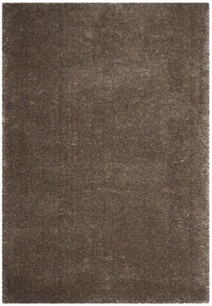 Schmitt Solid Gray Area Rug Rug Size: Round 6'7