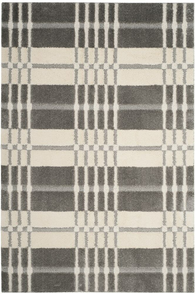 Connor Cream/Gray Area Rug Rug Size: Rectangle 4' x 6'