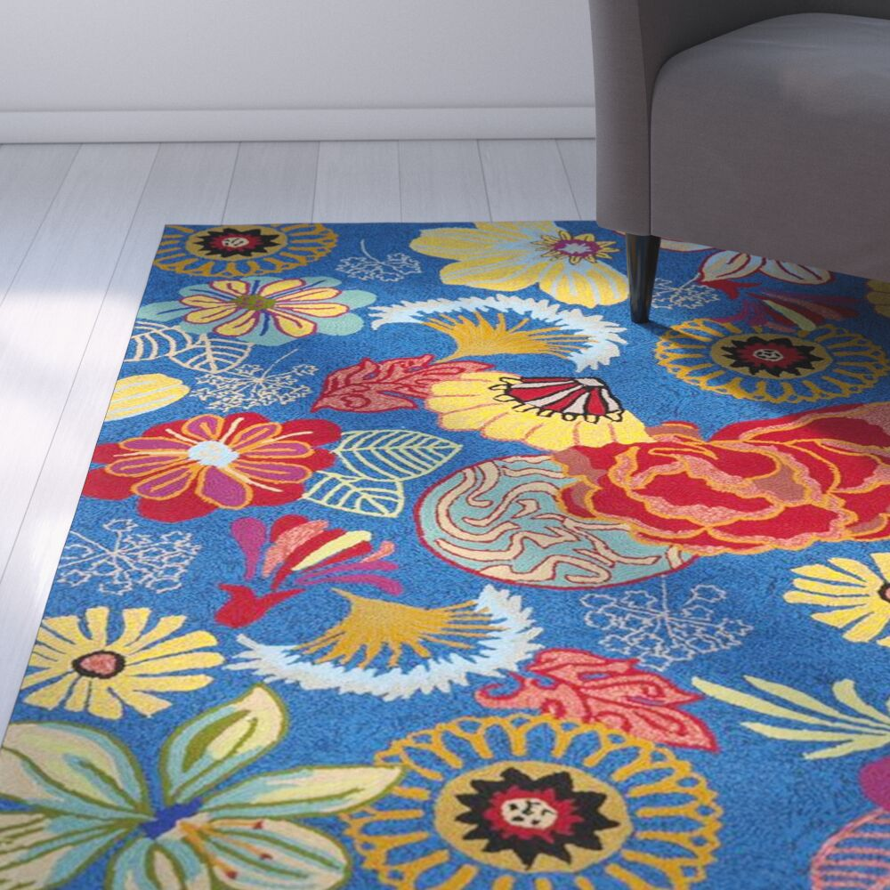 Hayes Hand-hooked Outdoor Area Rug Rug Size: Rectangle 3'6
