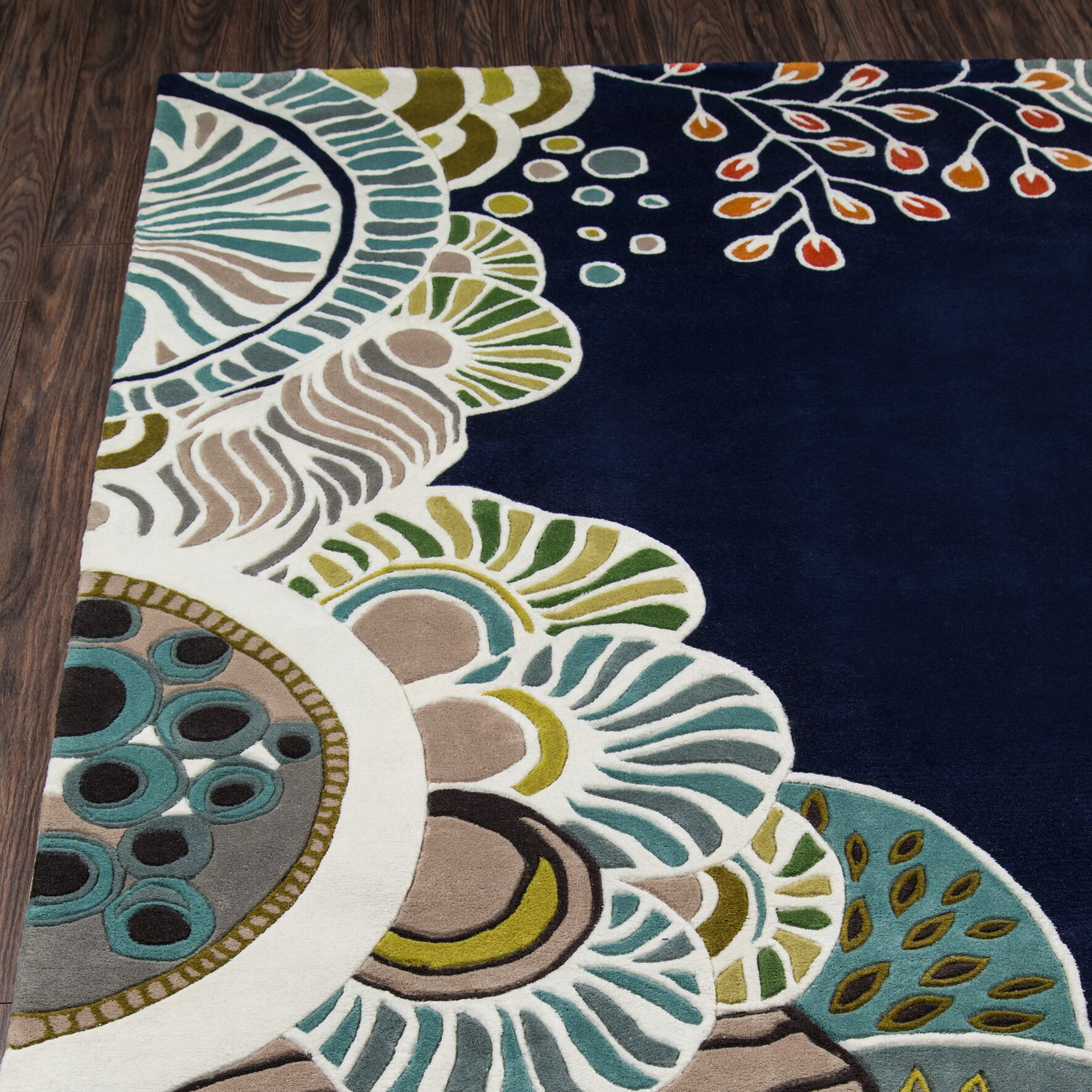 Despina Hand-Tufted Area Rug Rug Size: Round 5'9