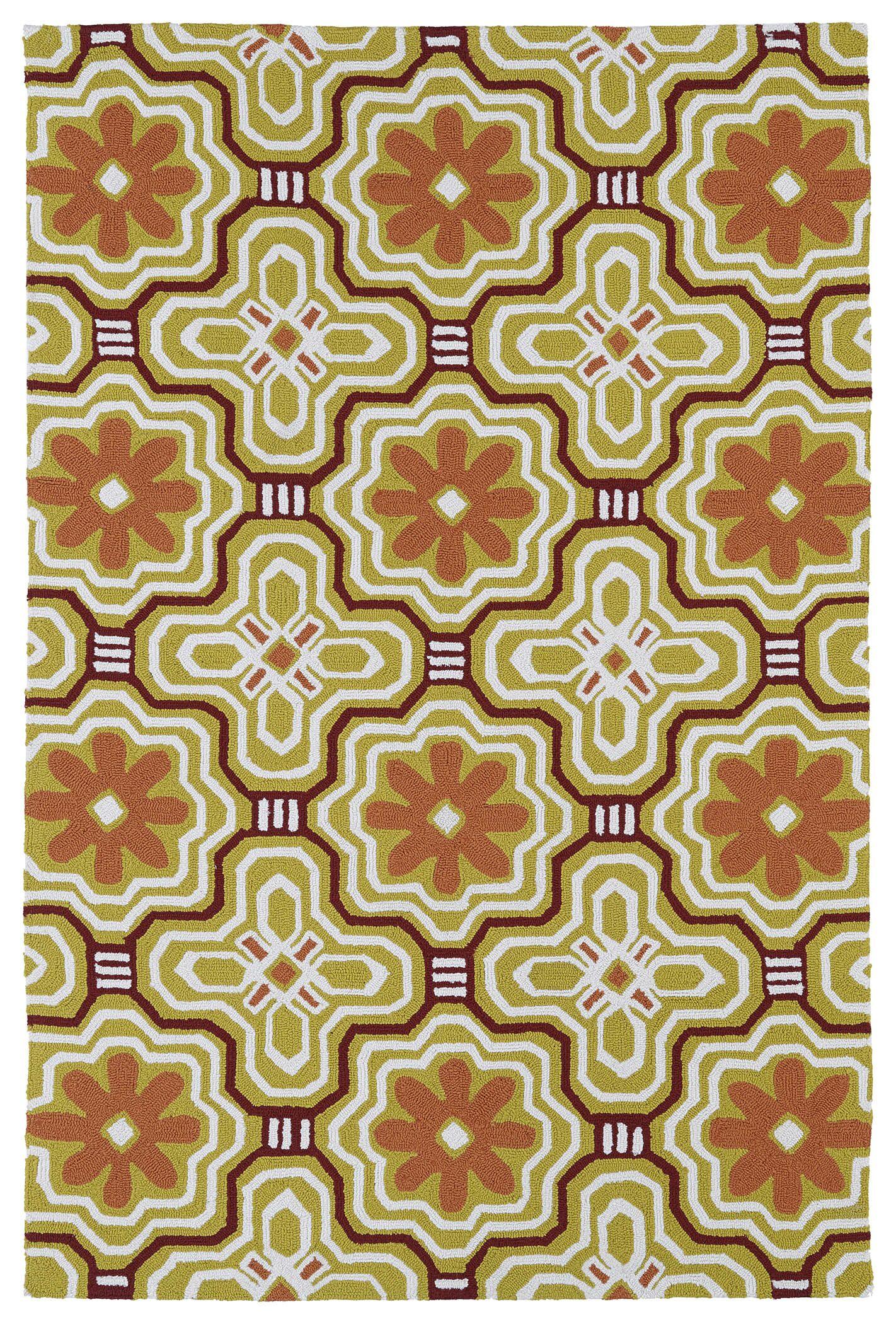 Bette Gold Indoor/Outdoor Rug Rug Size: Rectangle 7'6