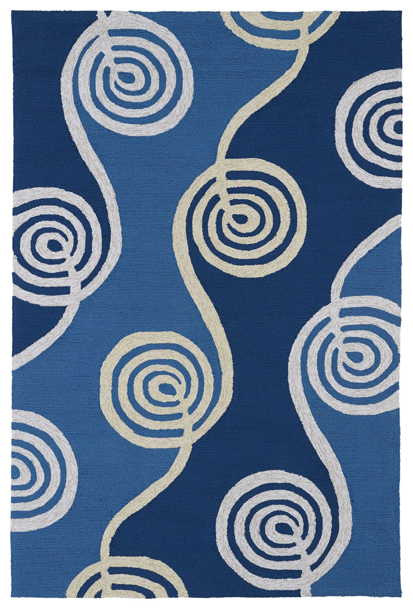 Susana Blue Indoor/Outdoor Area Rug Rug Size: Rectangle 7'6