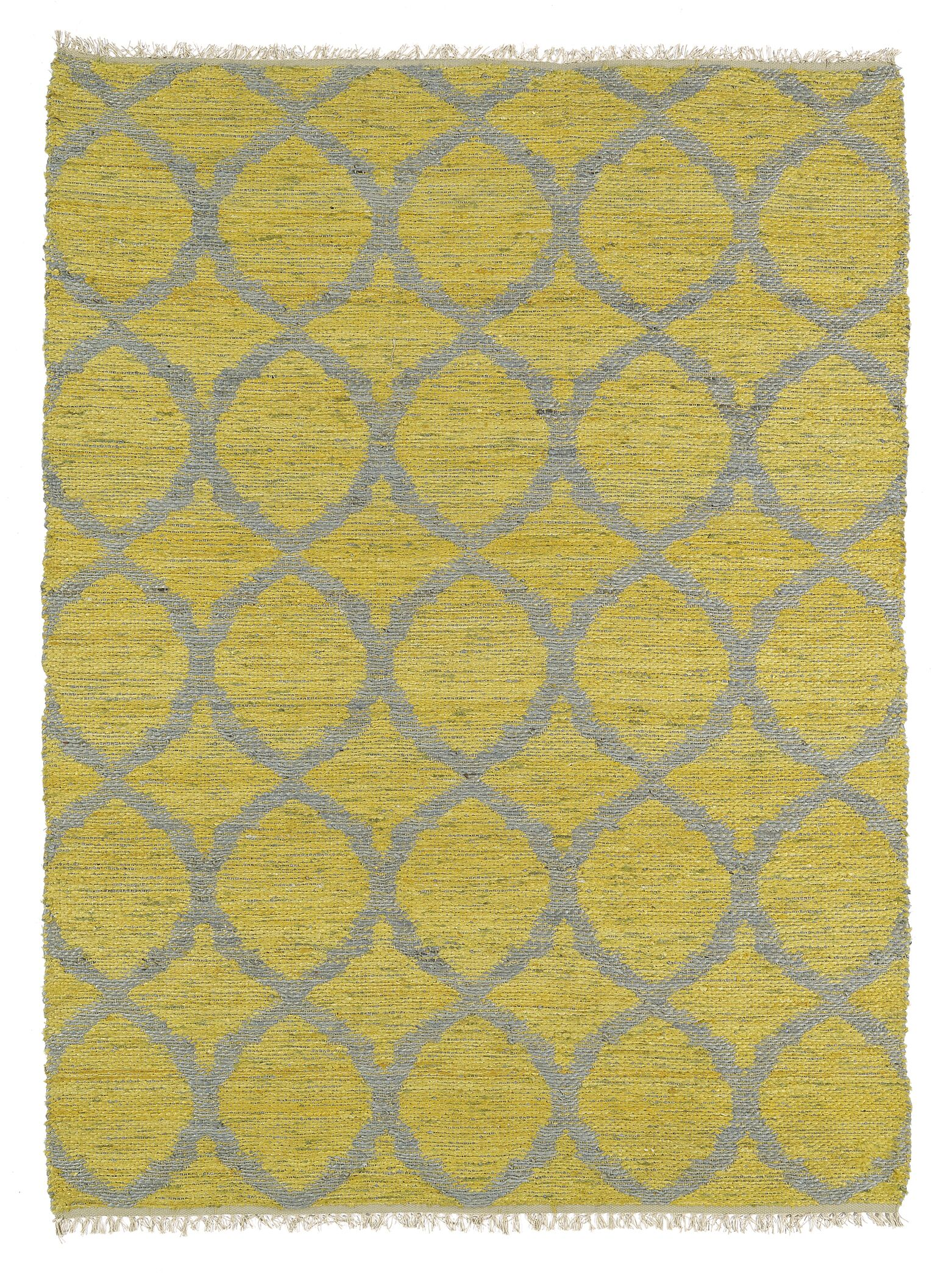 Dolder Yellow & Grey Area Rug Rug Size: Rectangle 7'6