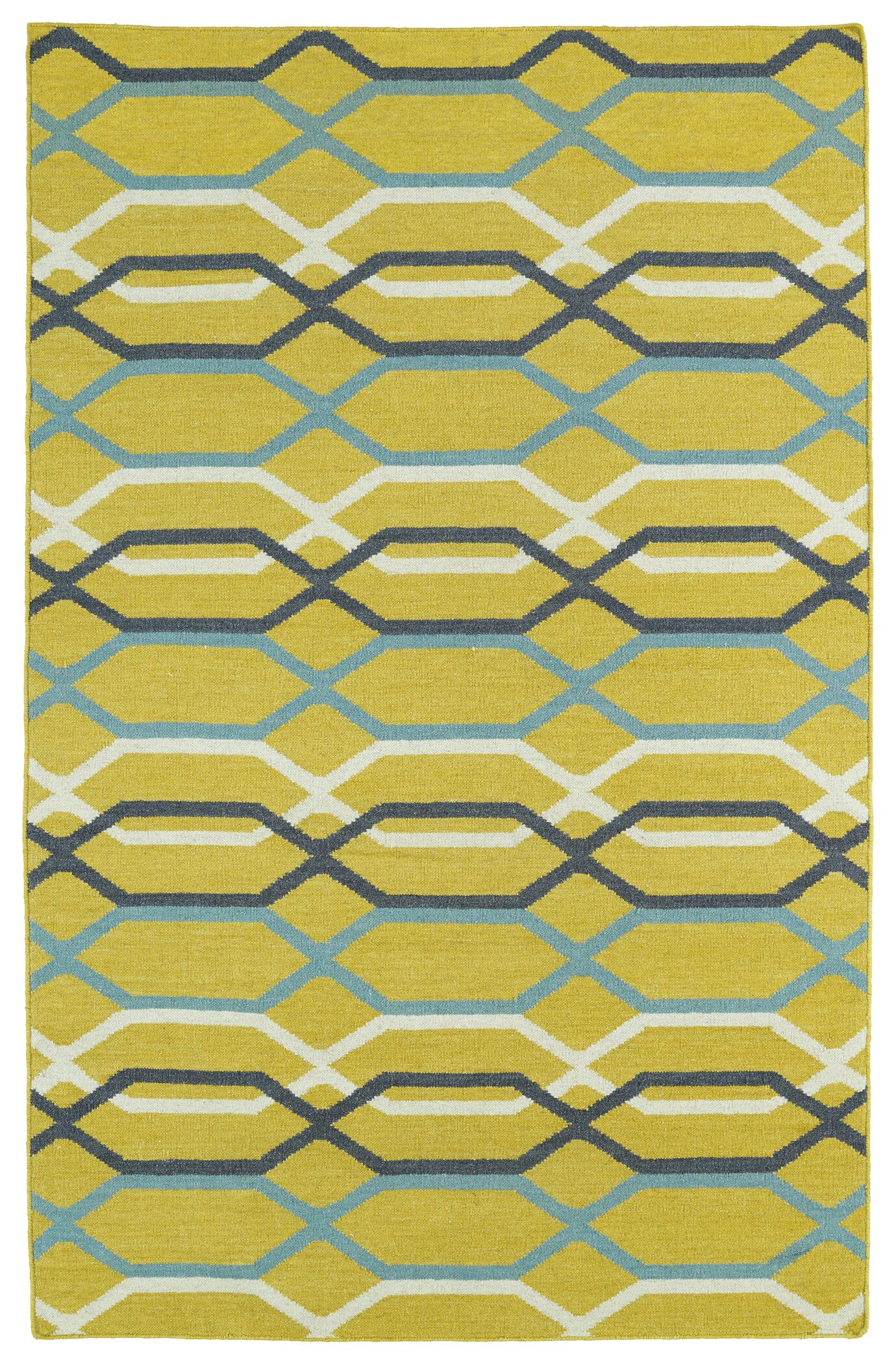 Dolton Yellow Geometric Area Rug Rug Size: Rectangle 5' x 8'