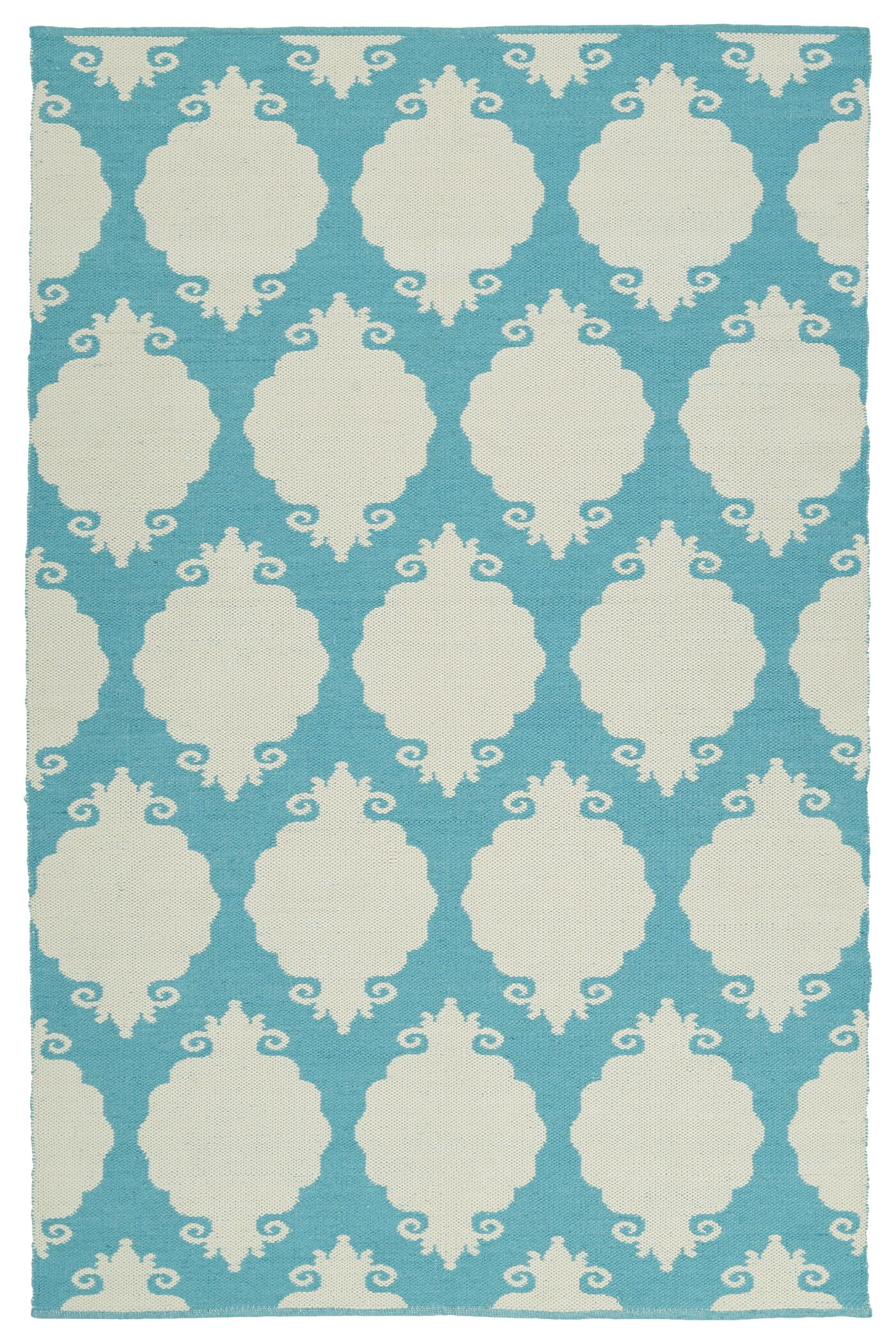 Dominic Cream/Turquoise Indoor/Outdoor Area Rug Rug Size: Rectangle 3' x 5'