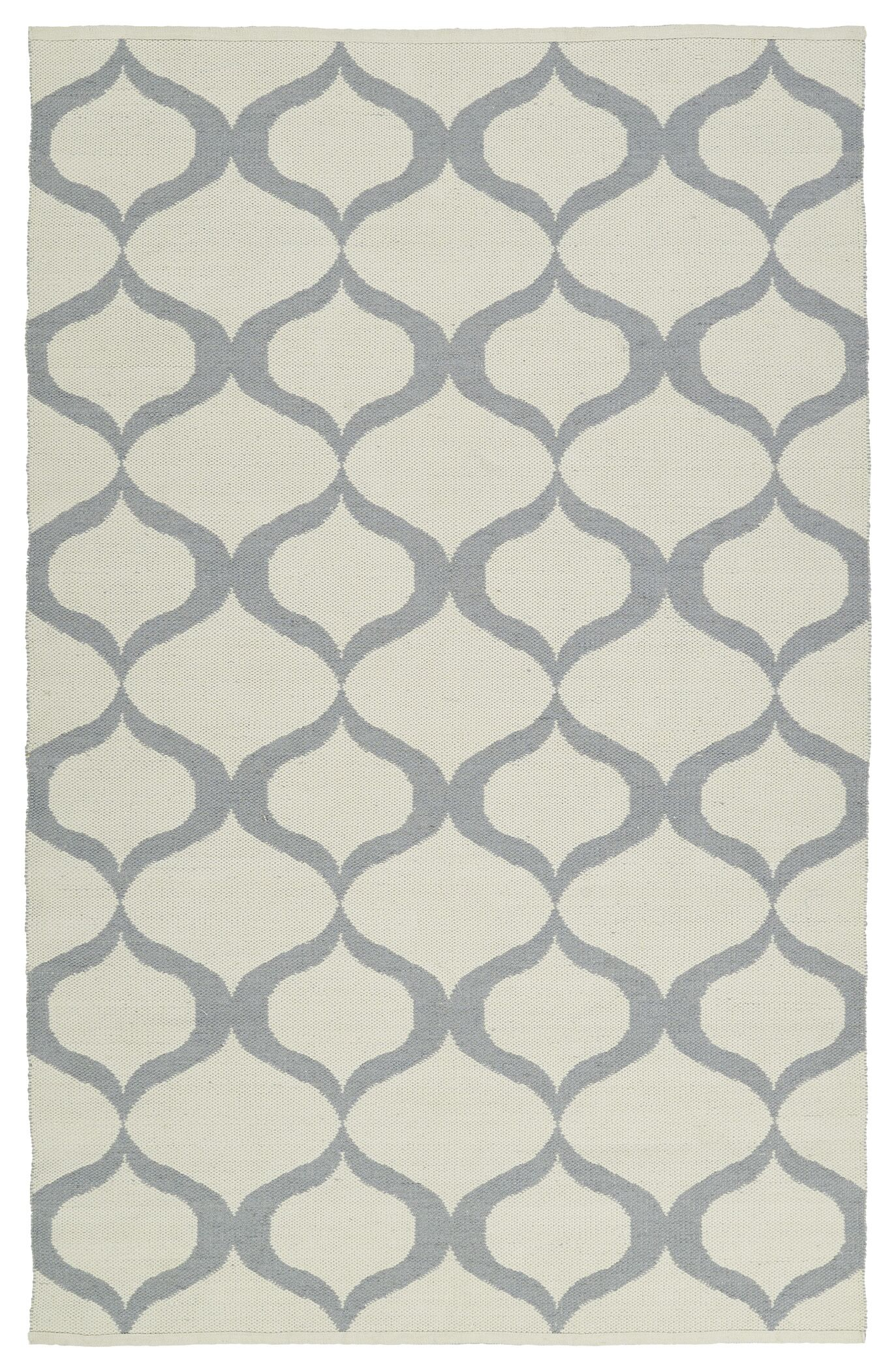 Dominic Hand-Tufted Cream/Gray Indoor/Outdoor Area Rug Rug Size: Rectangle 5' x 7'6