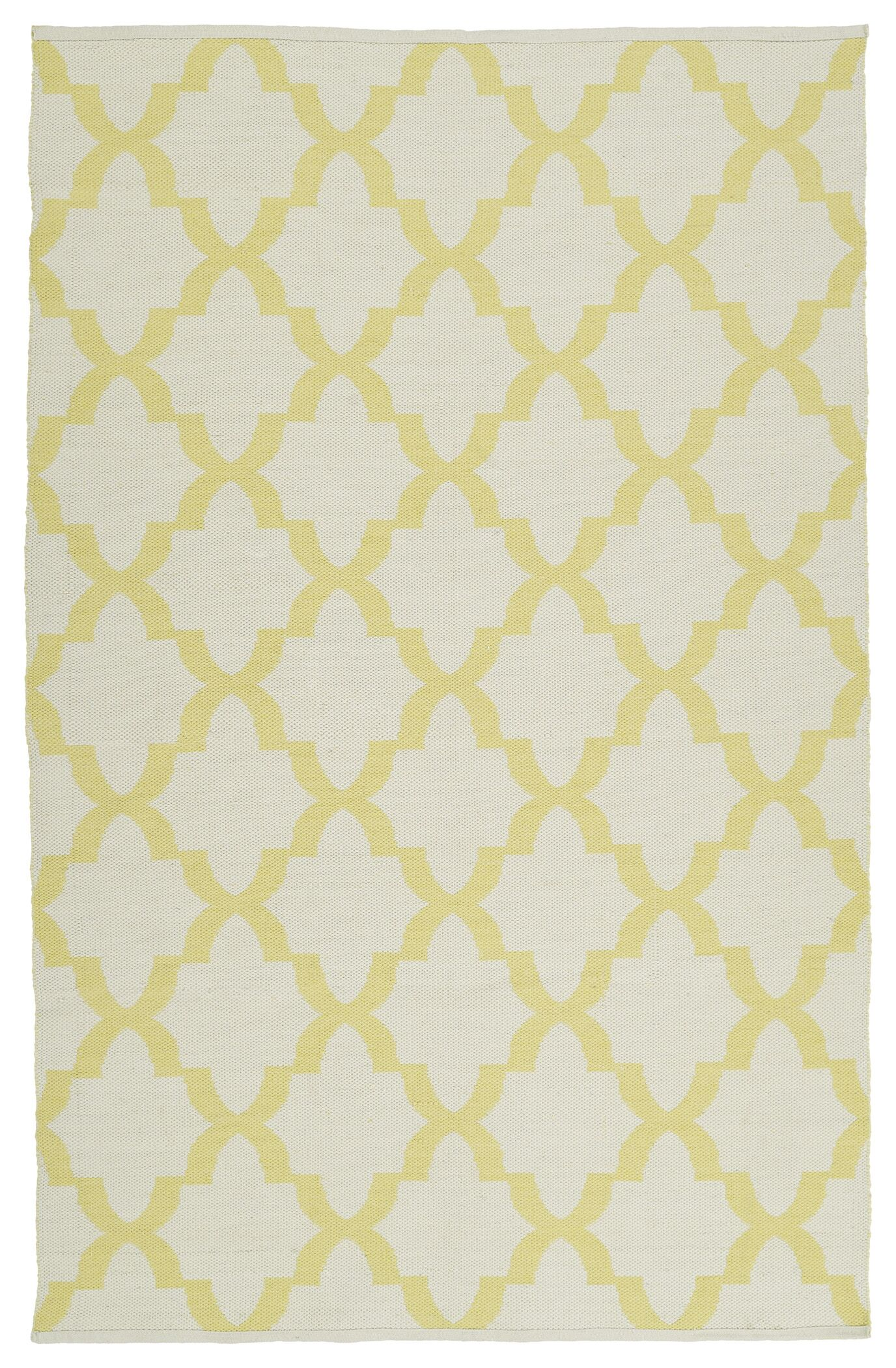 Dominic Yellow/White Indoor/Outdoor Area Rug Rug Size: Rectangle 9' x 12'