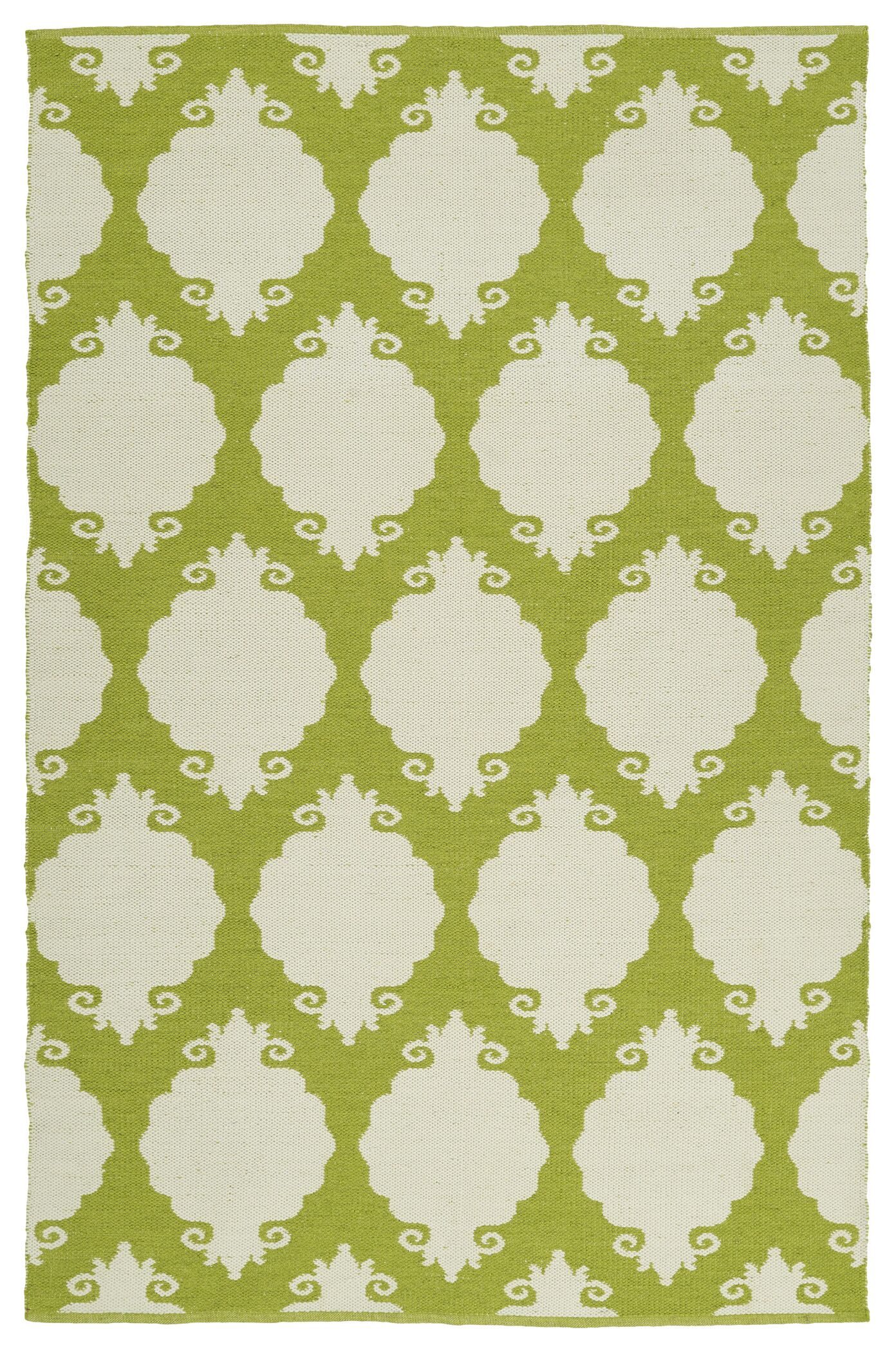 Dominic Wasabi/Cream Indoor/Outdoor Area Rug Rug Size: Rectangle 5' x 7'6