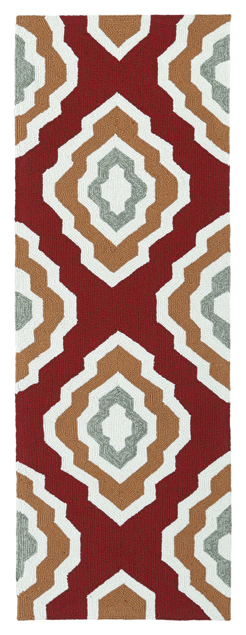 Alpine Bay Hand-Tufted Red Indoor/Outdoor Area Rug Rug Size: Rectangle 9' x 12'