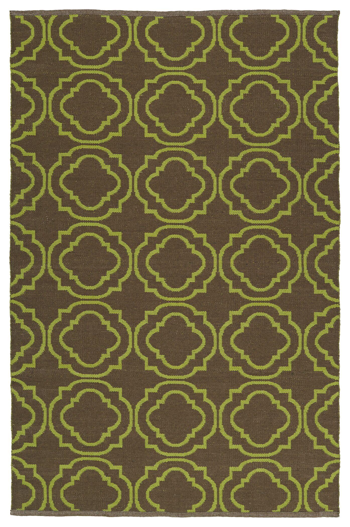 Aarti Brown/Avocado Indoor/Outdoor Area Rug Rug Size: 9' x 12'
