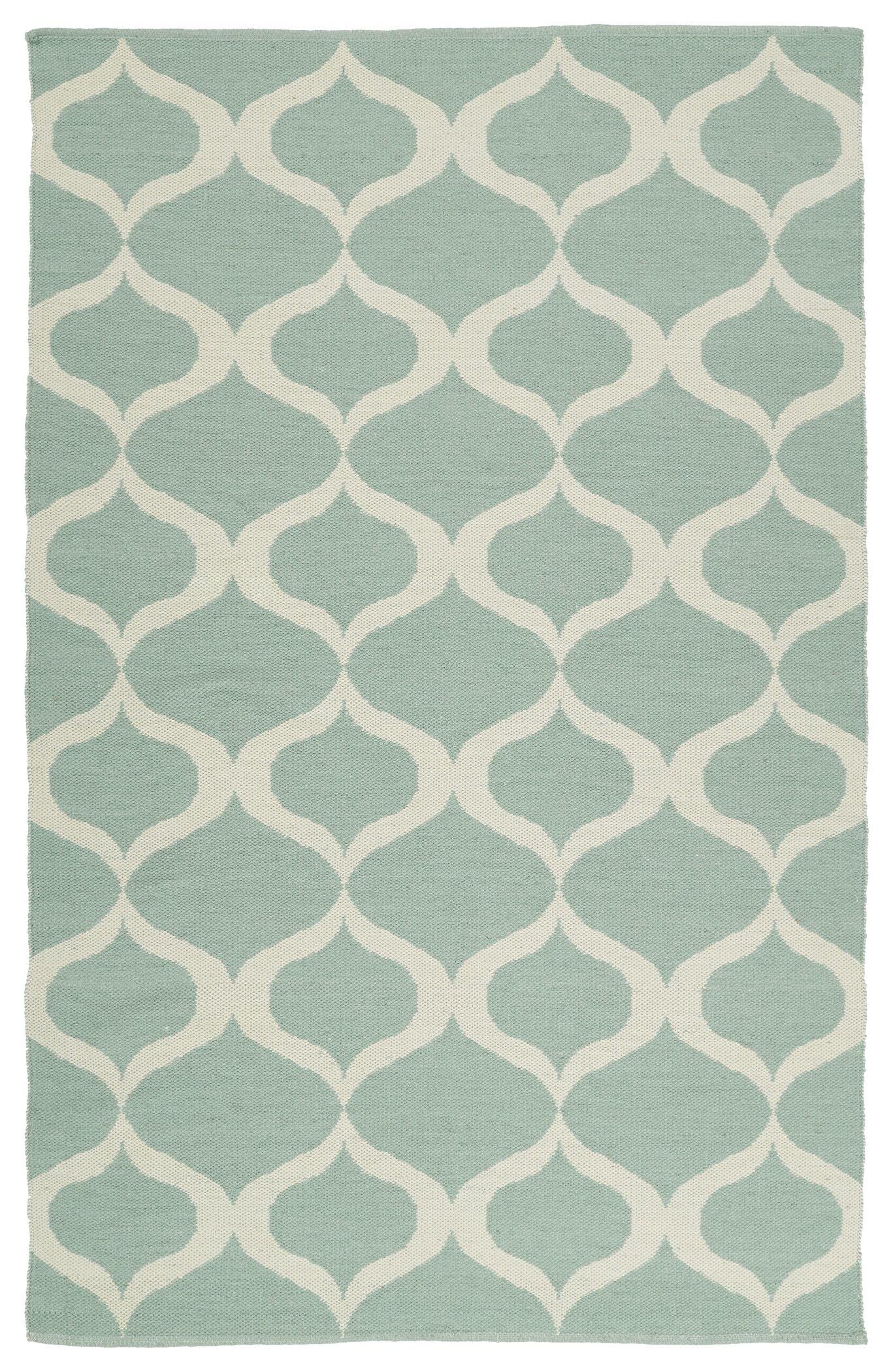 Dominic Mint/Cream Indoor/Outdoor Area Rug Rug Size: Rectangle 5' x 7'6