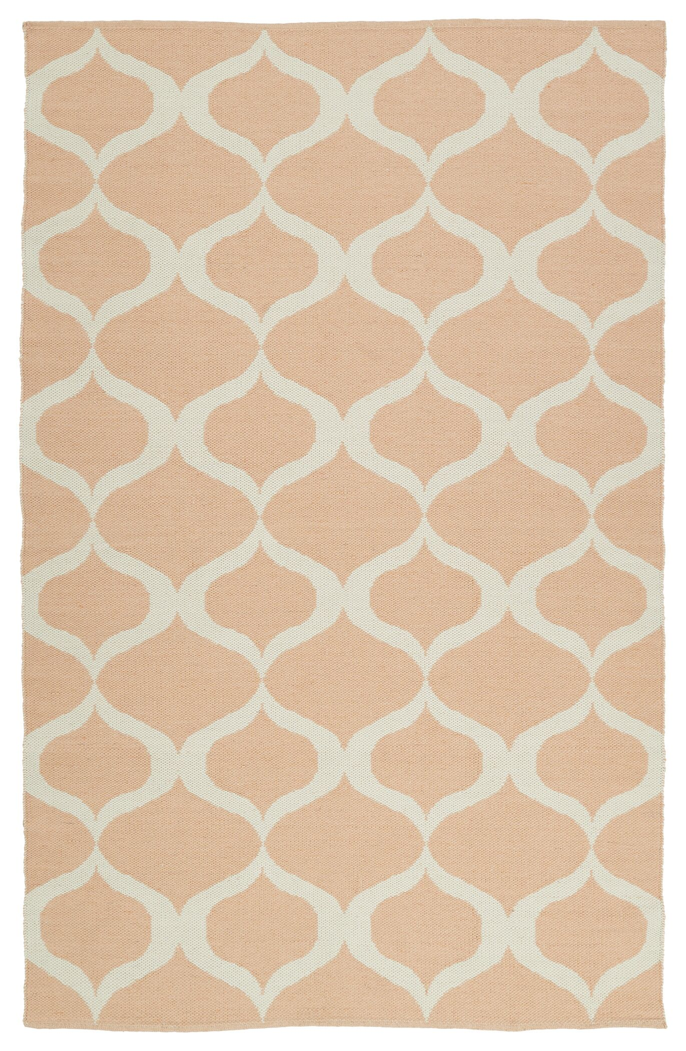 Dominic Pink/Cream Indoor/Outdoor Area Rug Rug Size: Rectangle 5' x 7'6