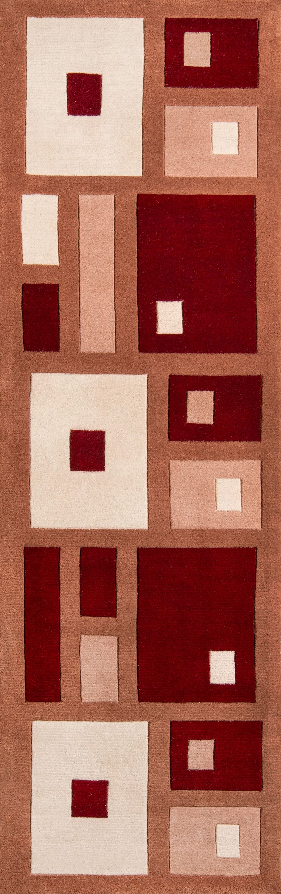 User Hand-Tufted Red Area Rug Rug Size: Runner 2'6