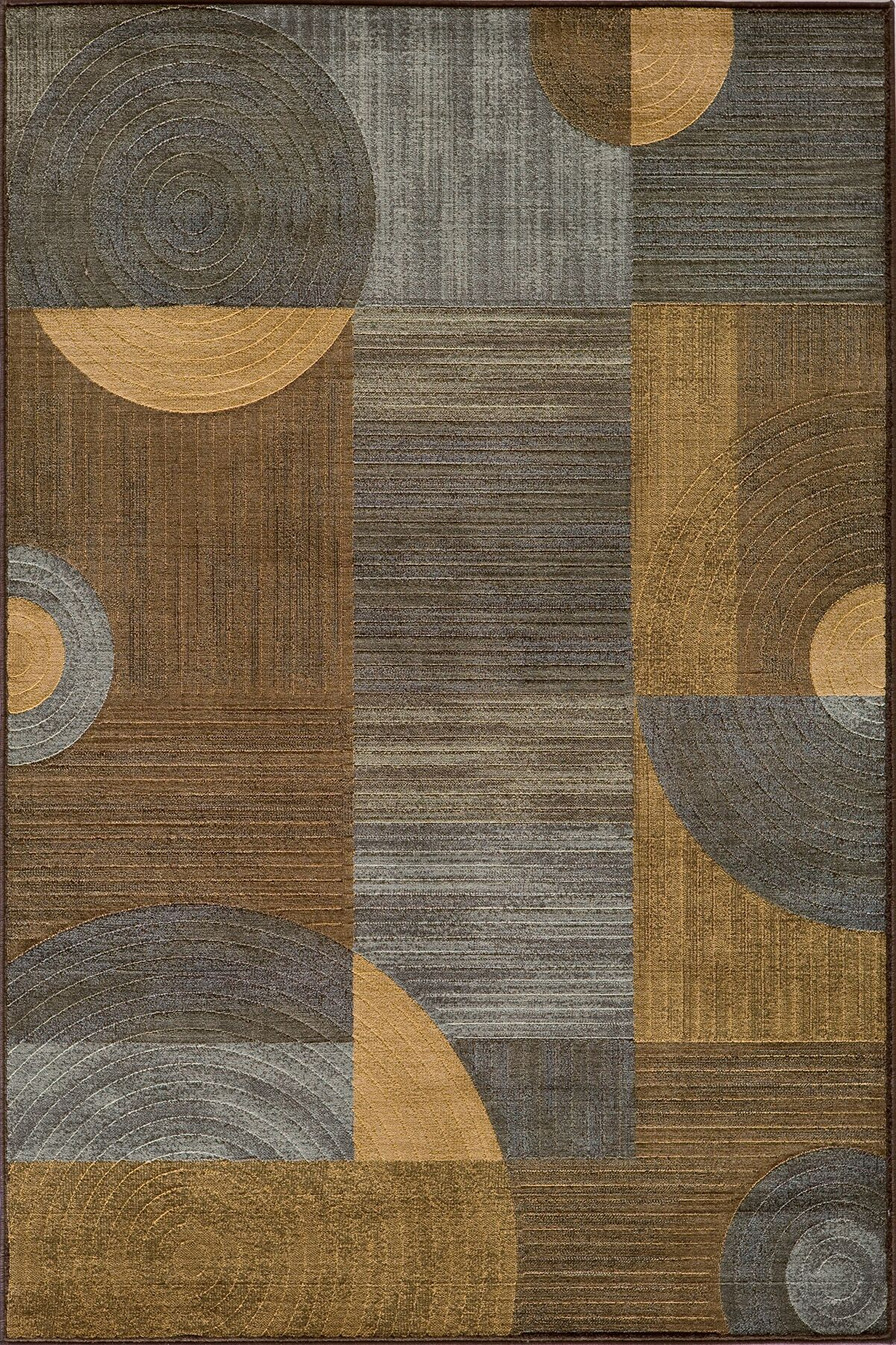 Dominique Brown/Gray Area Rug Rug Size: Rectangle 9'3