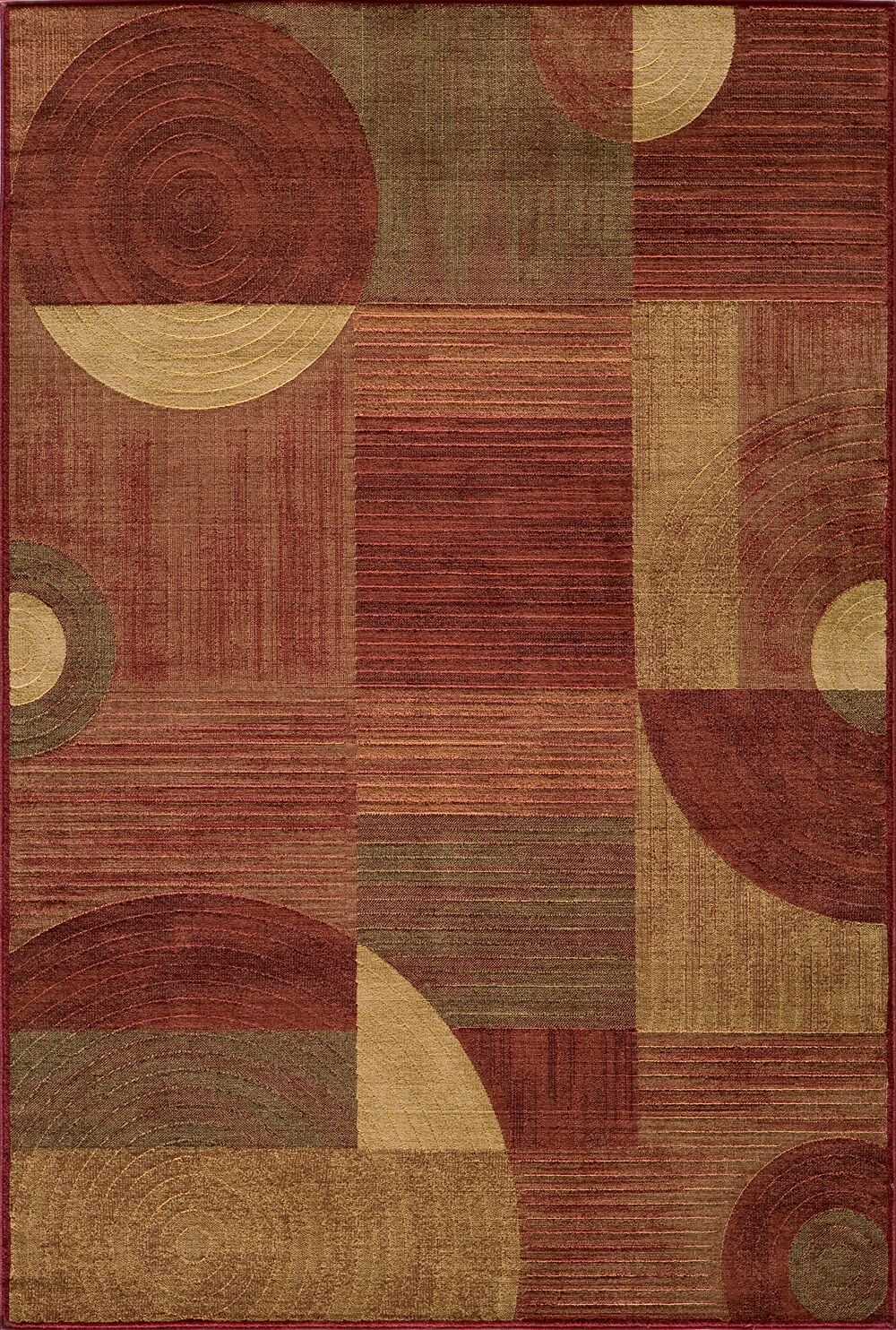 Dominique Red Area Rug Rug Size: Rectangle 7'10