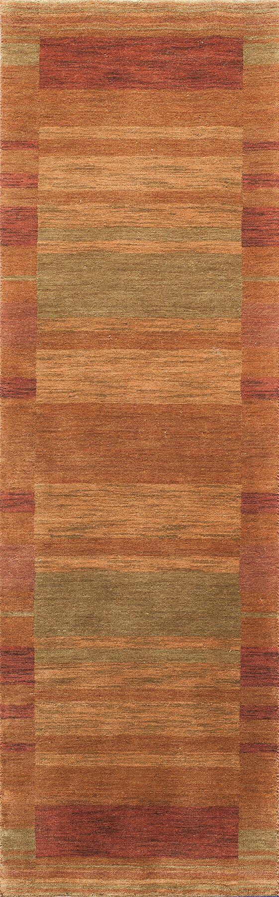 Donaghy Hand-Woven Rust/Light Green Area Rug Rug Size: Rectangle 7'6