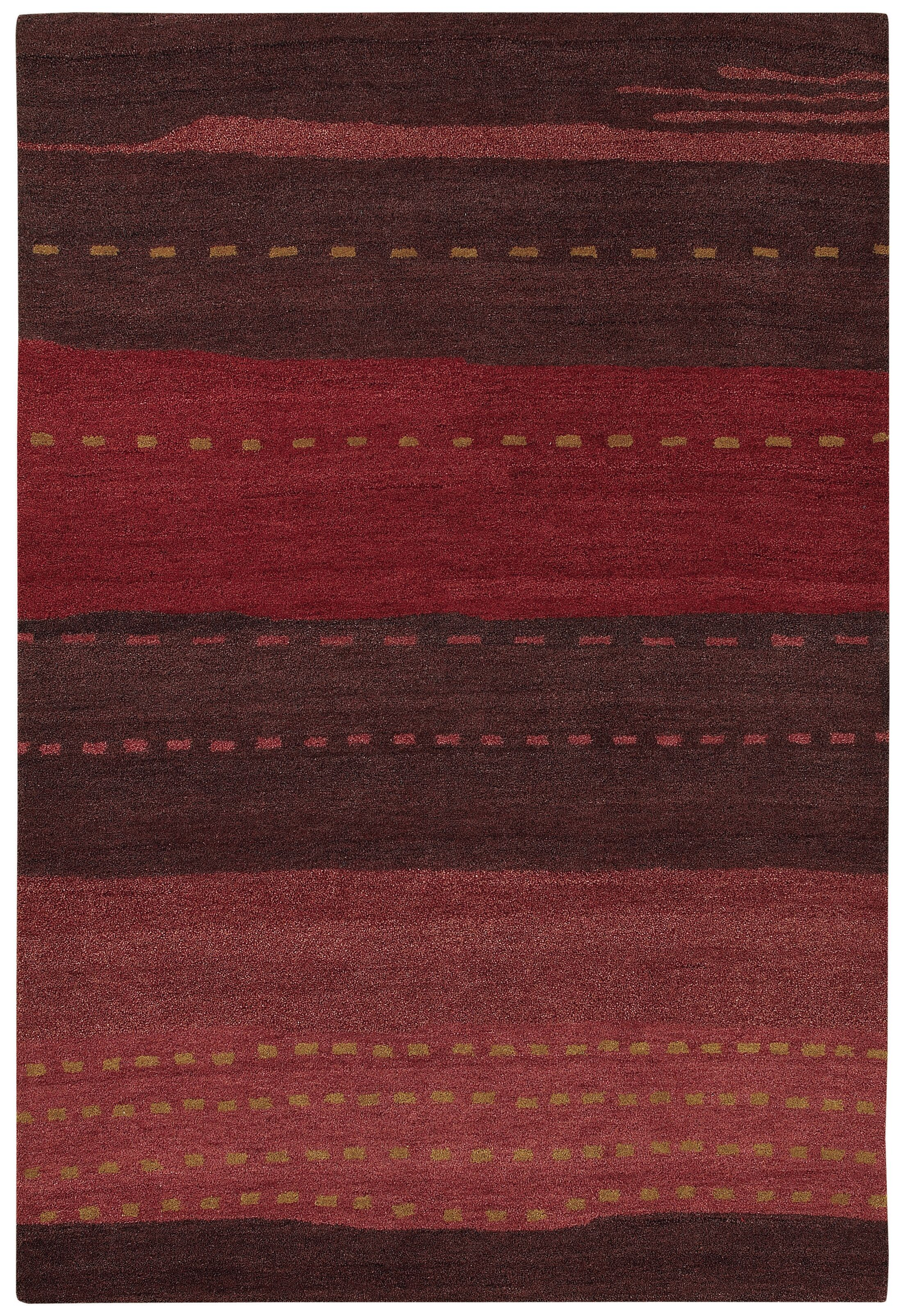 Cora Hand-Woven Red/Brown Area Rug Rug Size: Rectangle 9'6