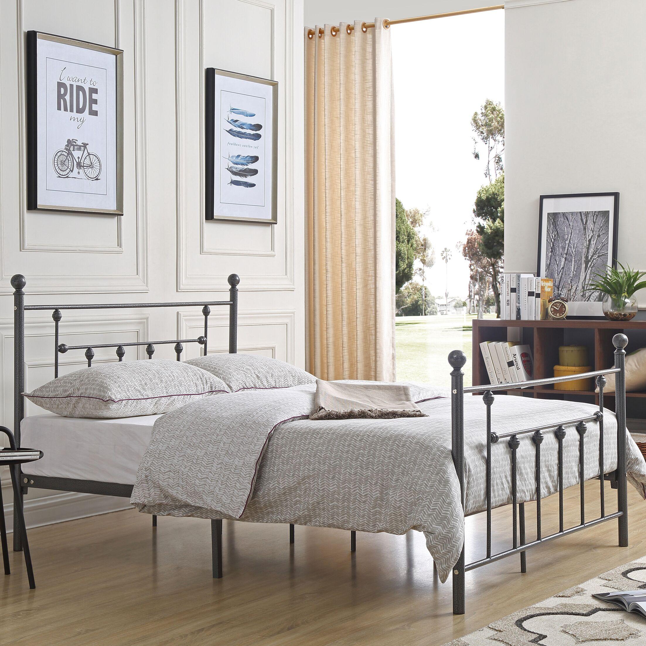 Besaw Platform Bed Size: Full, Color: Charcoal