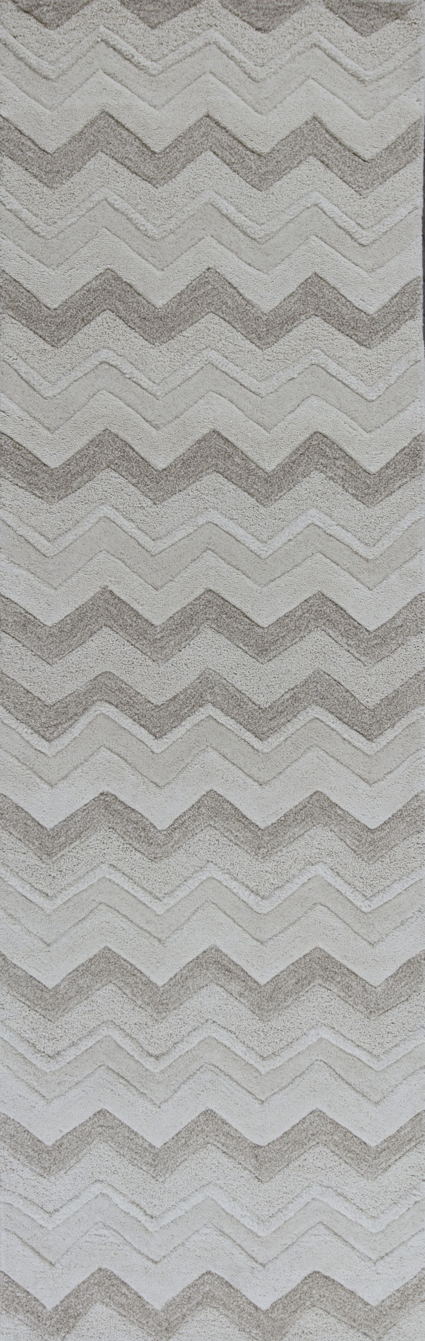 Courtney Ivory Chevron Area Rug Rug Size: Runner 2'3