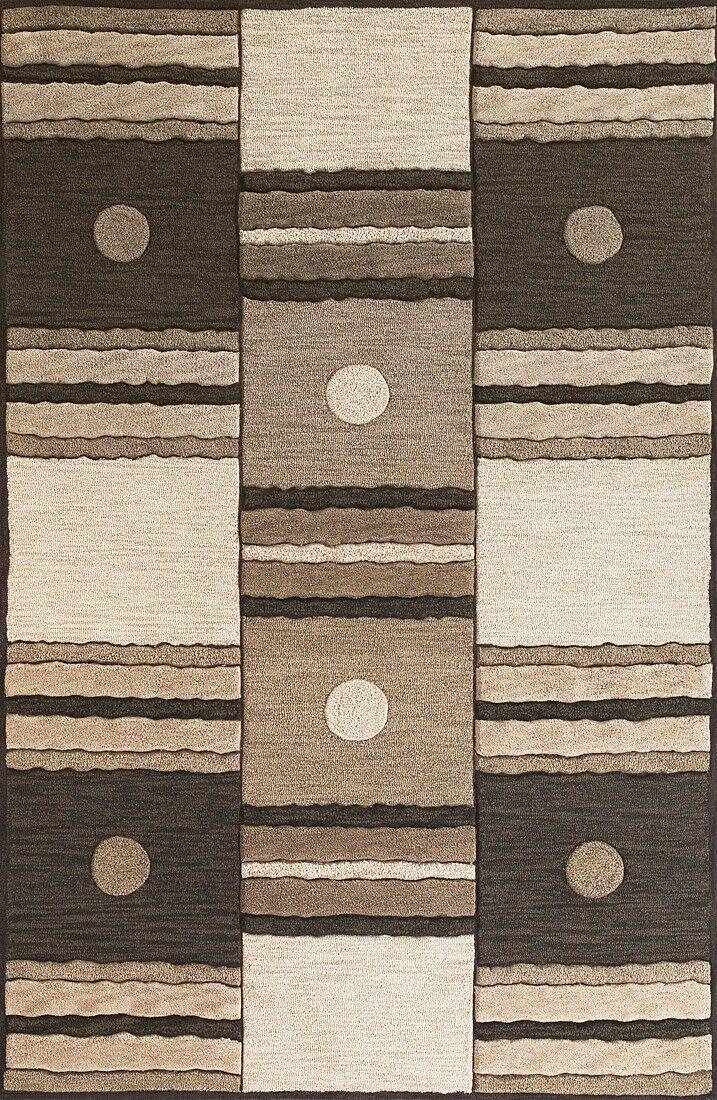 Correa Ivory/Mocha Dominoes Rug Rug Size: Rectangle 7'9
