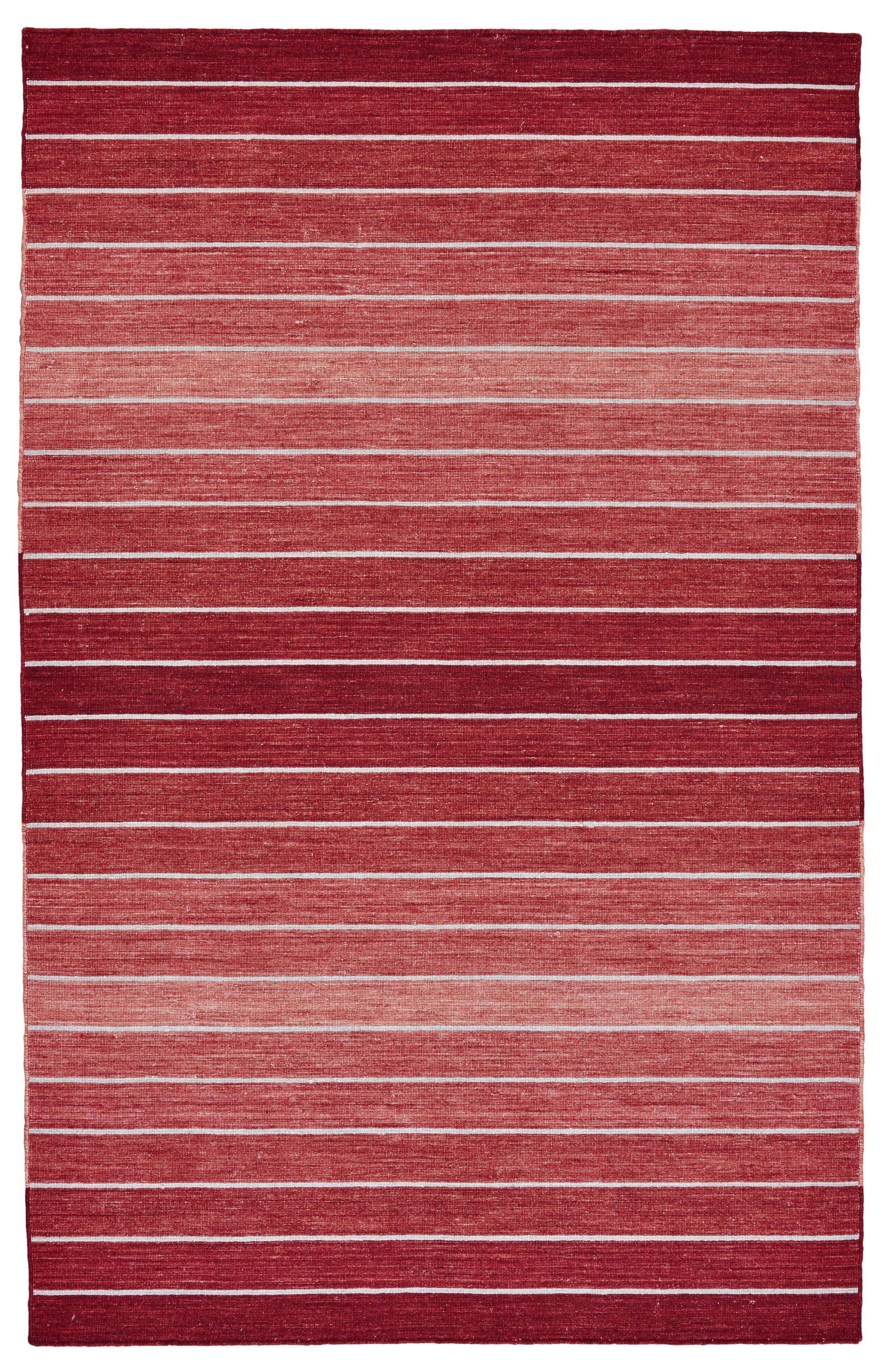 Mcdonald Hand-Loomed Red Area Rug Rug Size: Runner 2'6