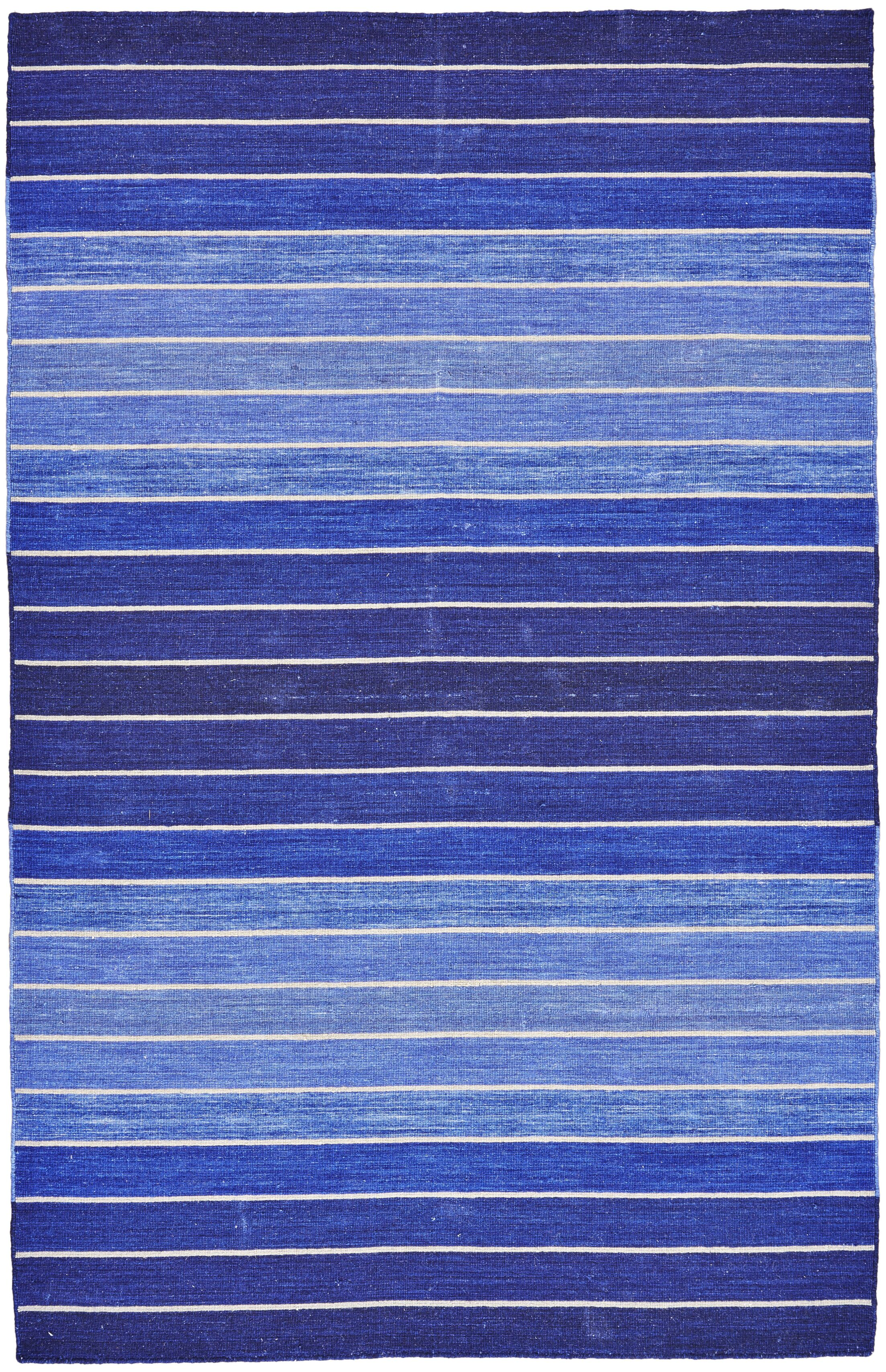 Mcdonald Hand-Tufted Cotton Blue Area Rug Rug Size: Square 9'