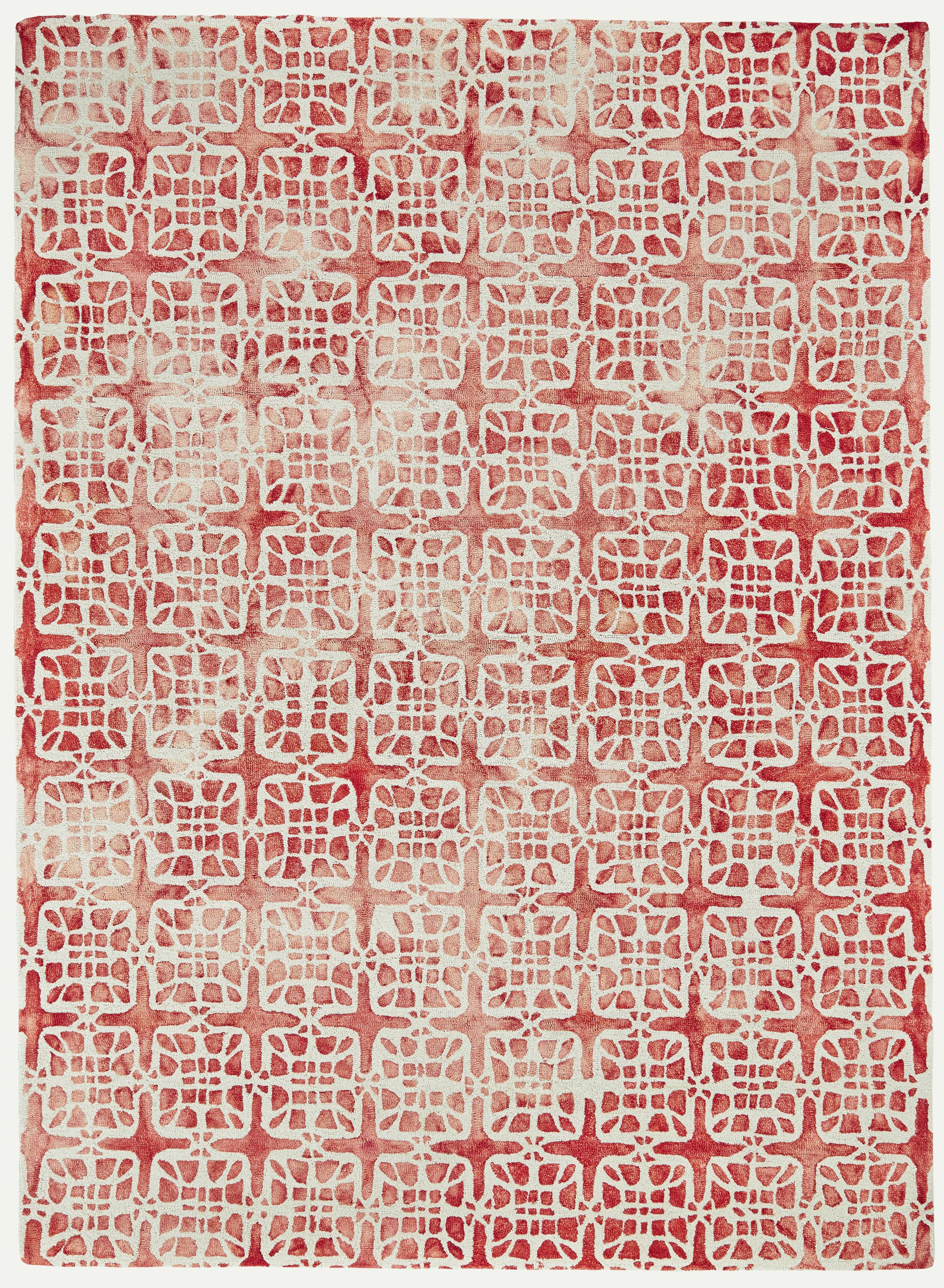 Frederick Hand-Hooked Wool Pomegranate Area Rug Rug Size: Round 10'